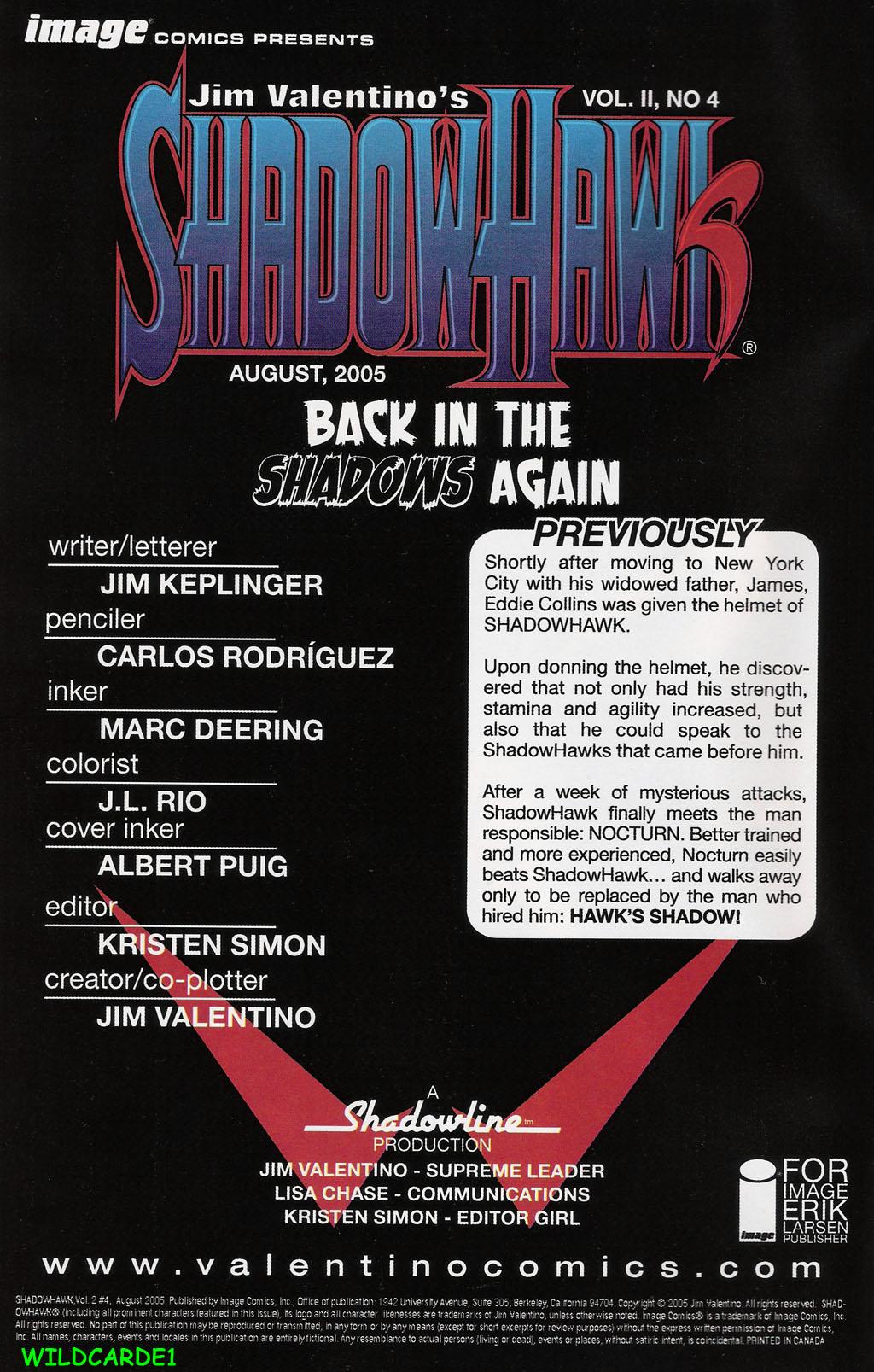 Read online ShadowHawk (2005) comic -  Issue #4 - 2