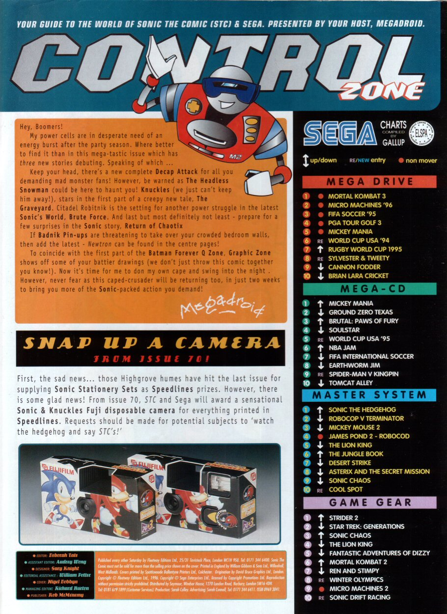Read online Sonic the Comic comic -  Issue #69 - 2