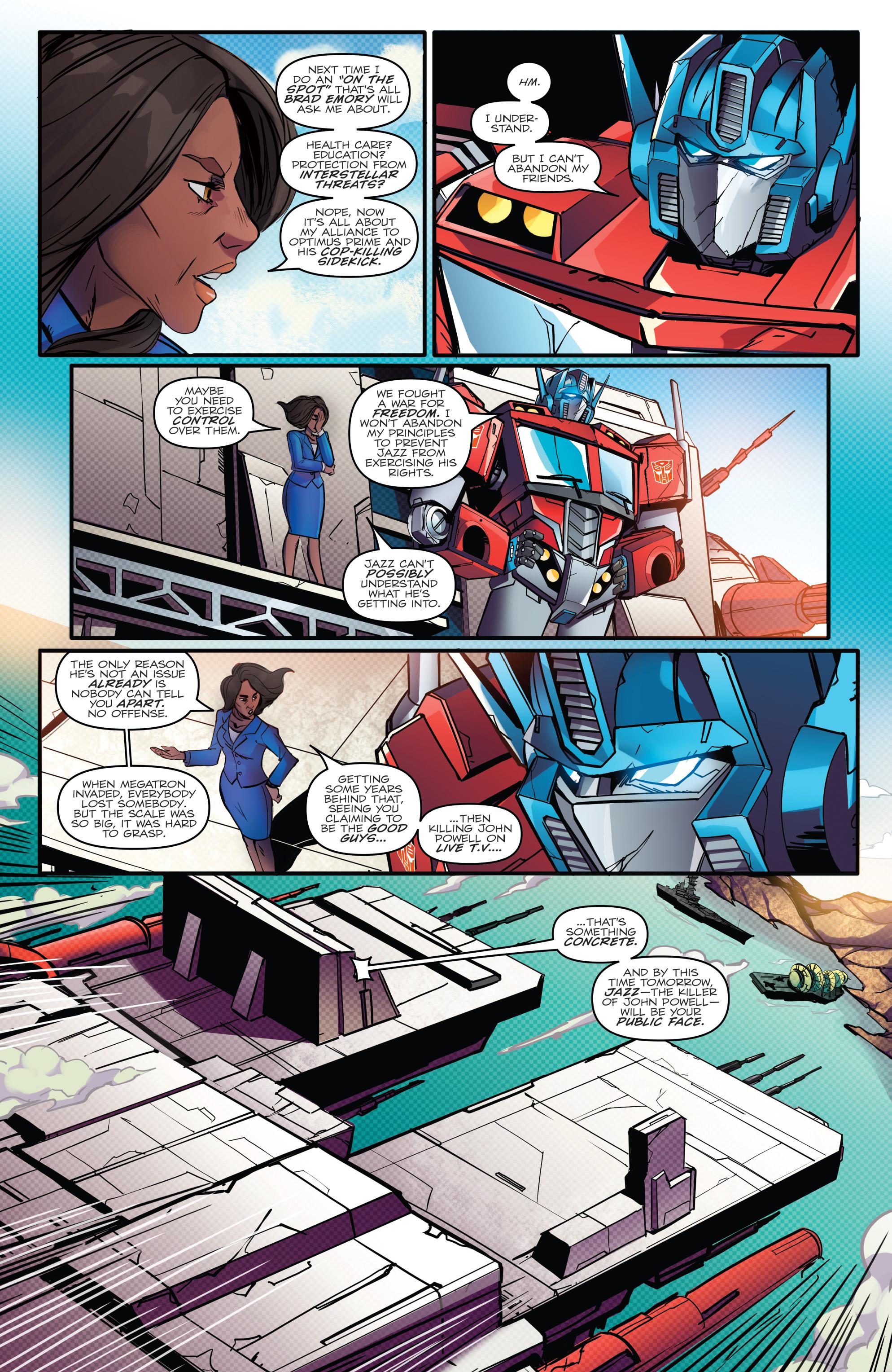 Read online Optimus Prime comic -  Issue #7 - 13