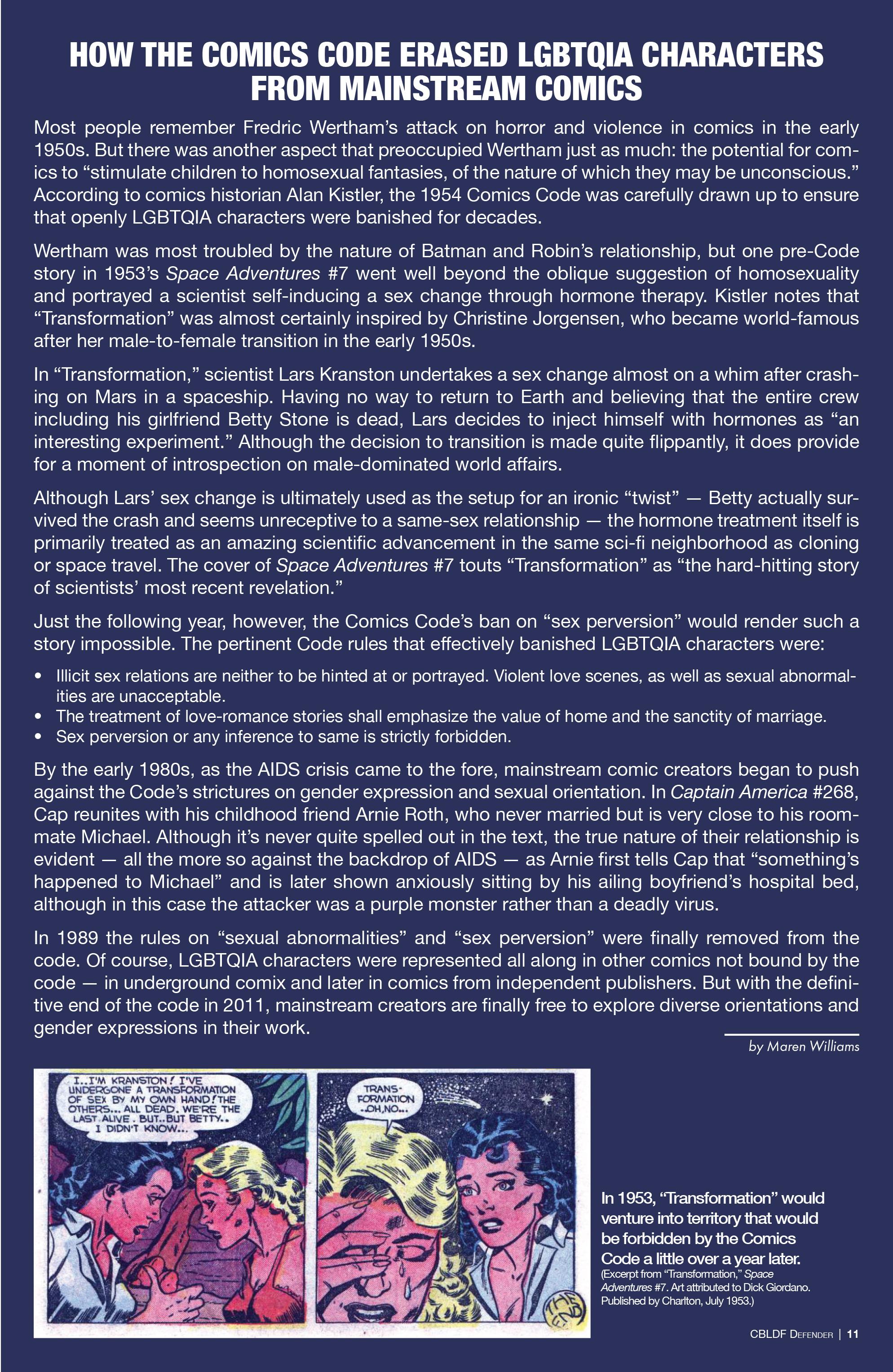 Read online CBLDF Defender Vol. 2 comic -  Issue #2 - 11
