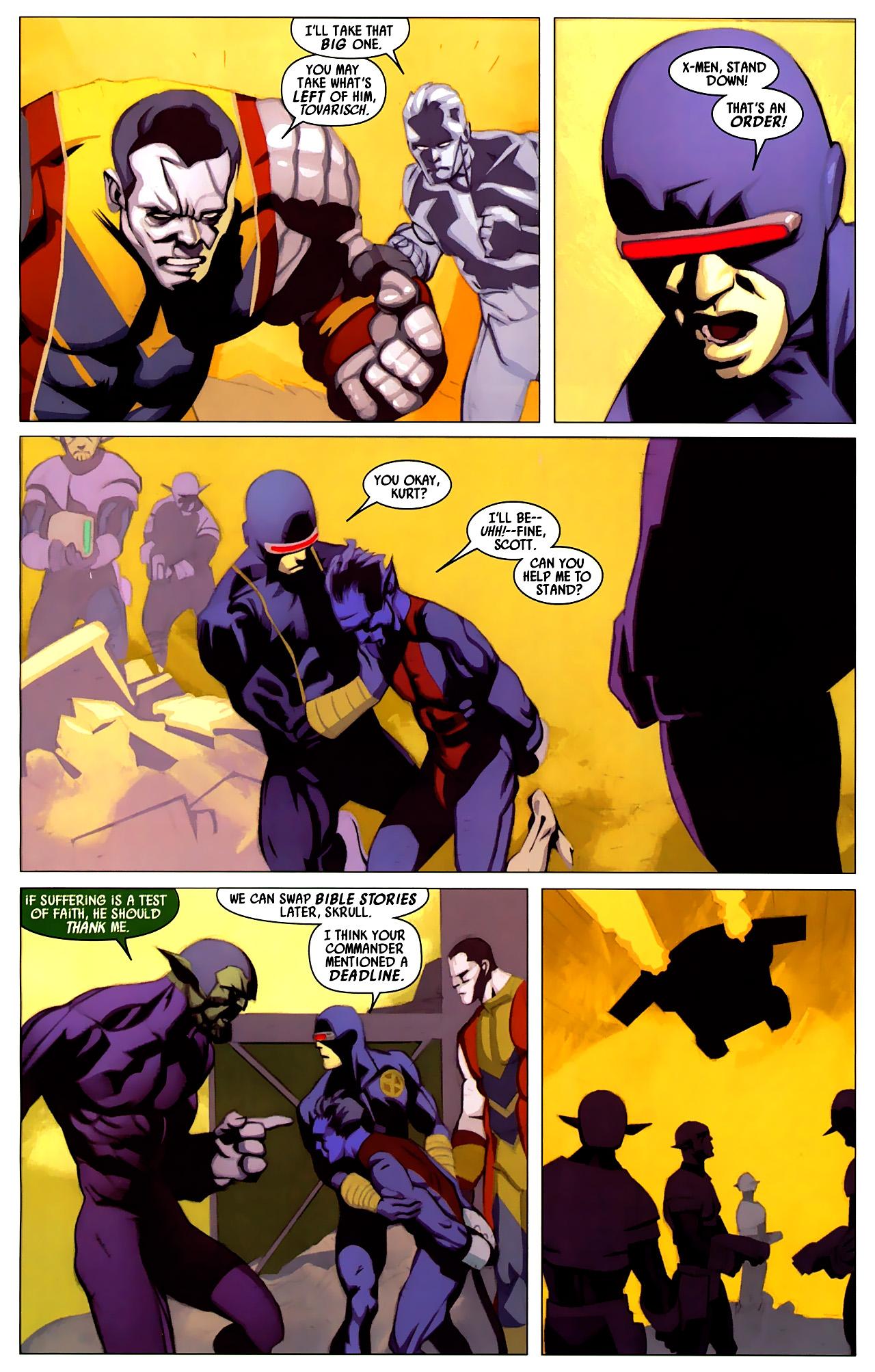 Read online Secret Invasion: X-Men comic -  Issue #4 - 13