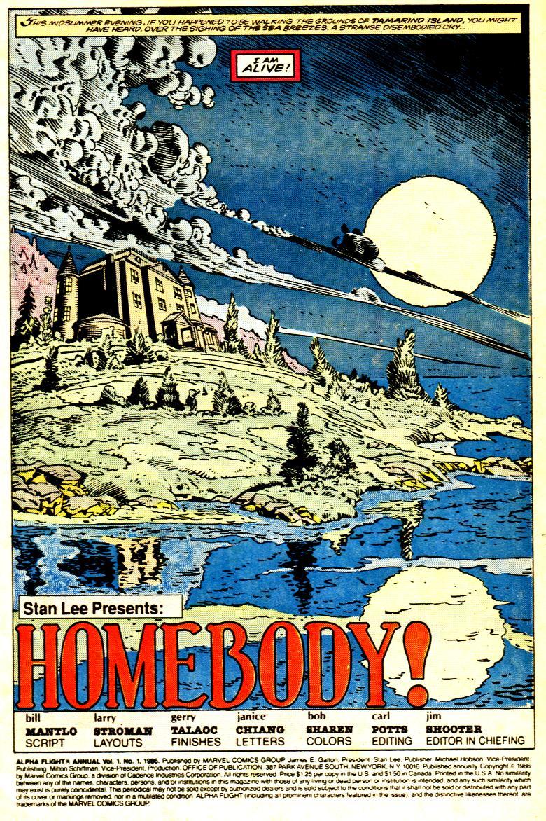 Read online Alpha Flight (1983) comic -  Issue # _Annual 1 - 2