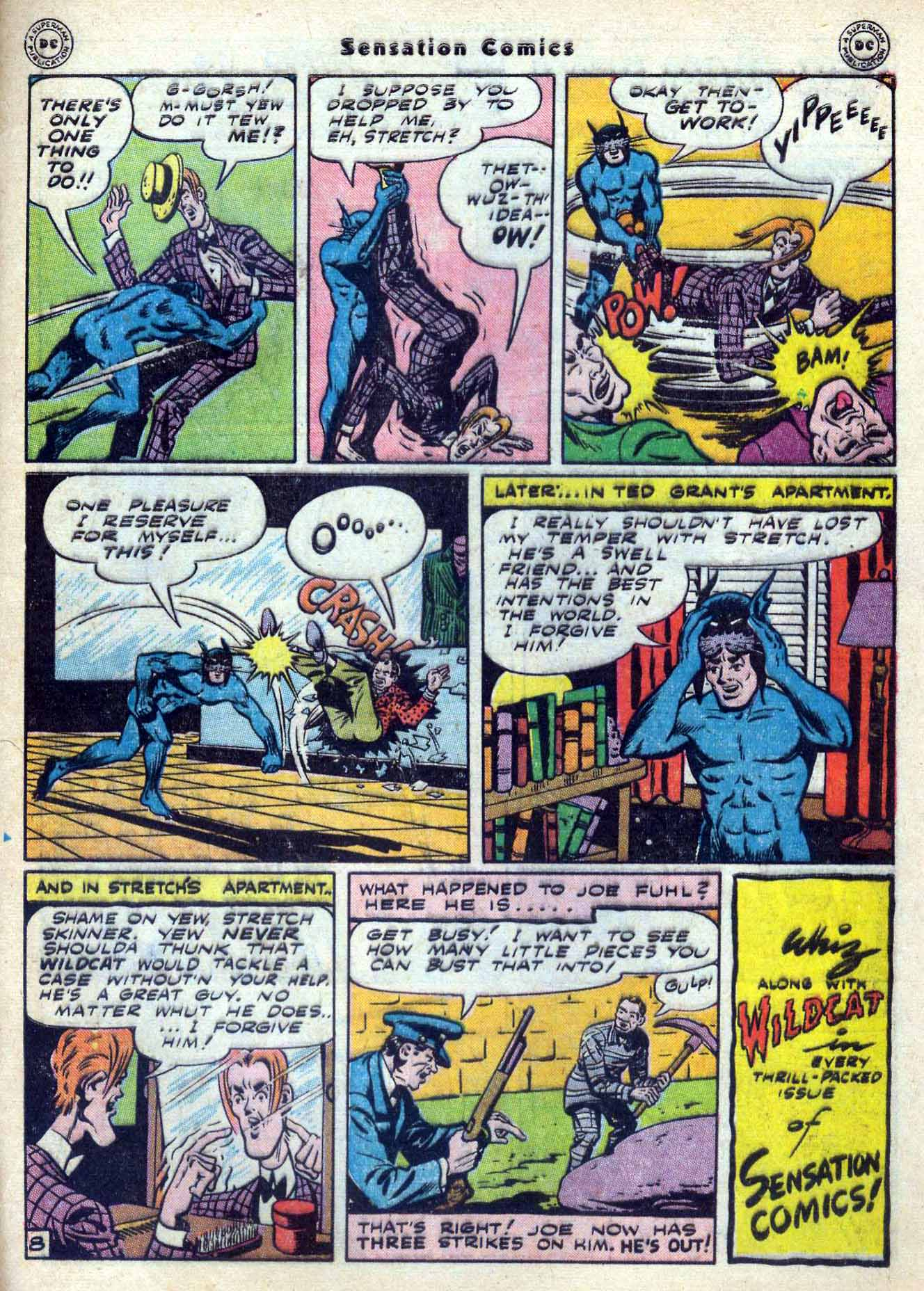 Read online Sensation (Mystery) Comics comic -  Issue #59 - 49
