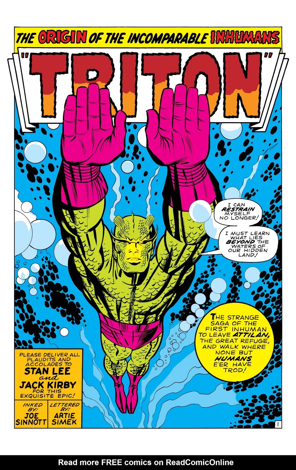 Read online Marvel Masterworks: The Inhumans comic -  Issue # TPB 1 (Part 1) - 28