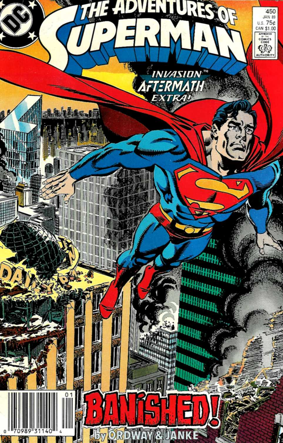 Read online Adventures of Superman (1987) comic -  Issue #450 - 1
