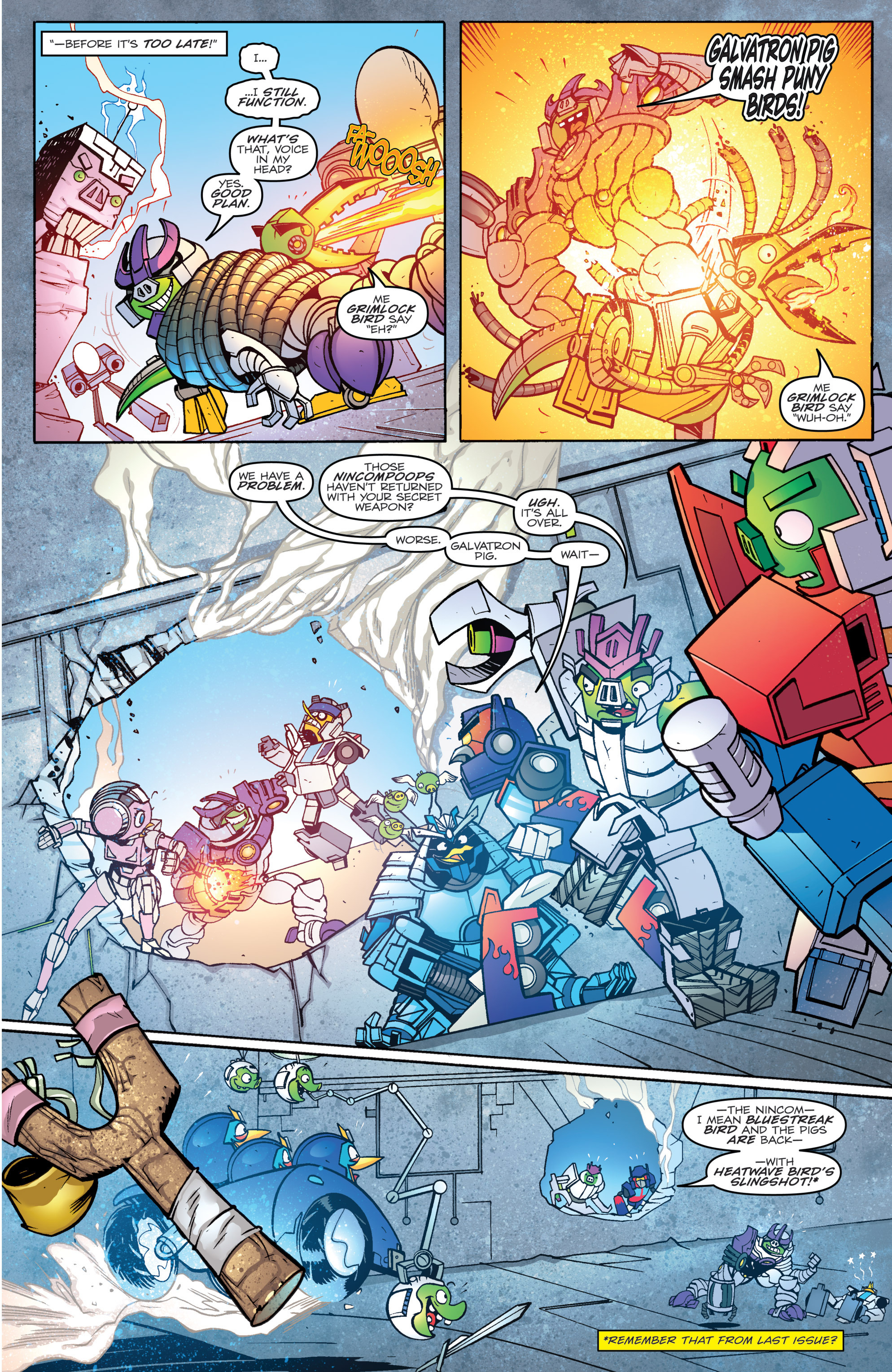 Read online Angry Birds Transformers comic -  Issue #4 - 13