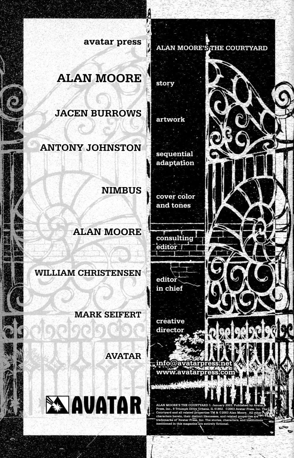Read online Alan Moore's The Courtyard comic -  Issue #1 - 2