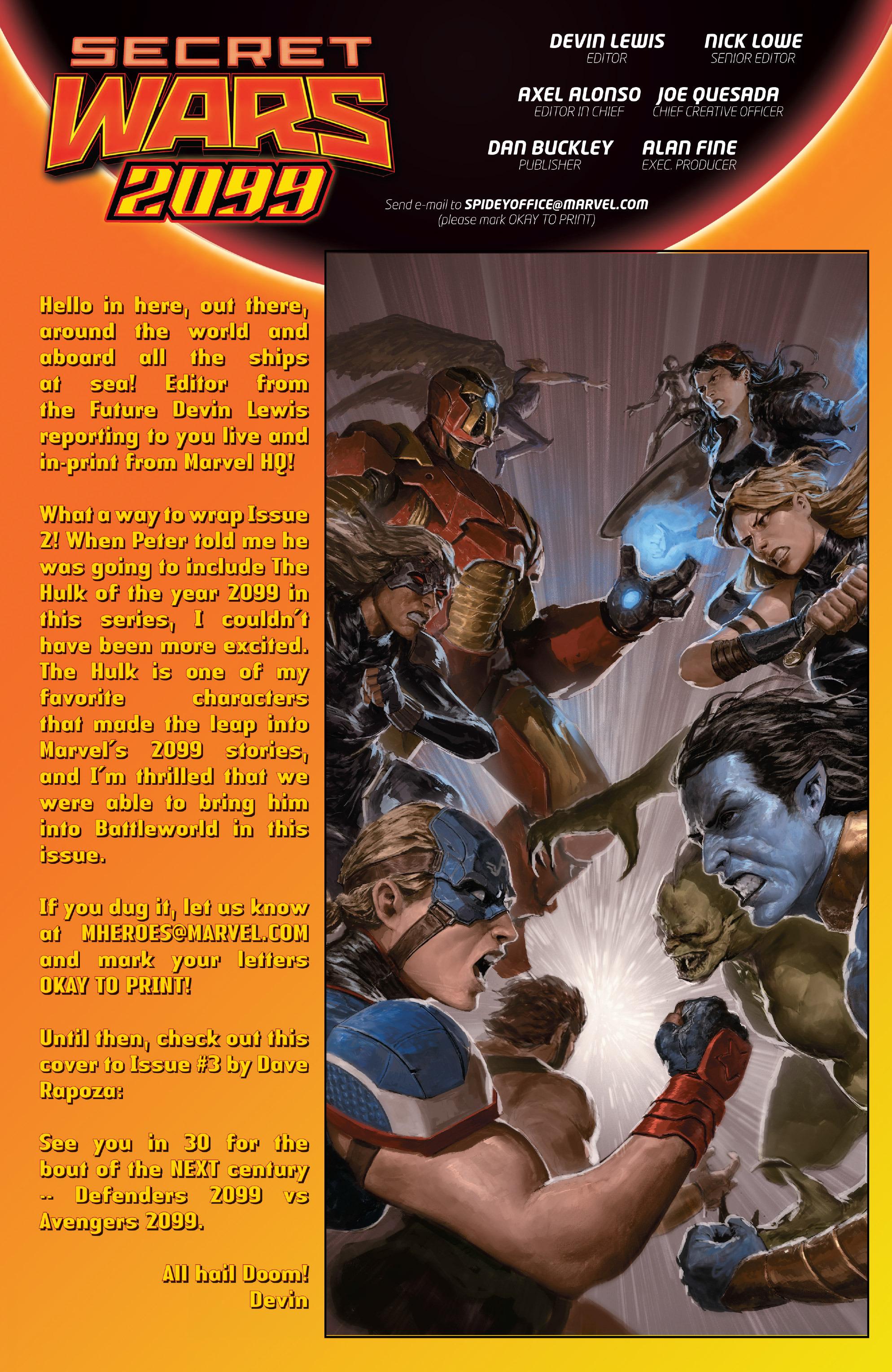Read online Secret Wars 2099 comic -  Issue #2 - 23