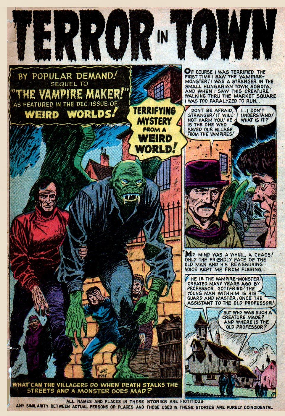 Read online Adventures into Weird Worlds comic -  Issue #15 - 2