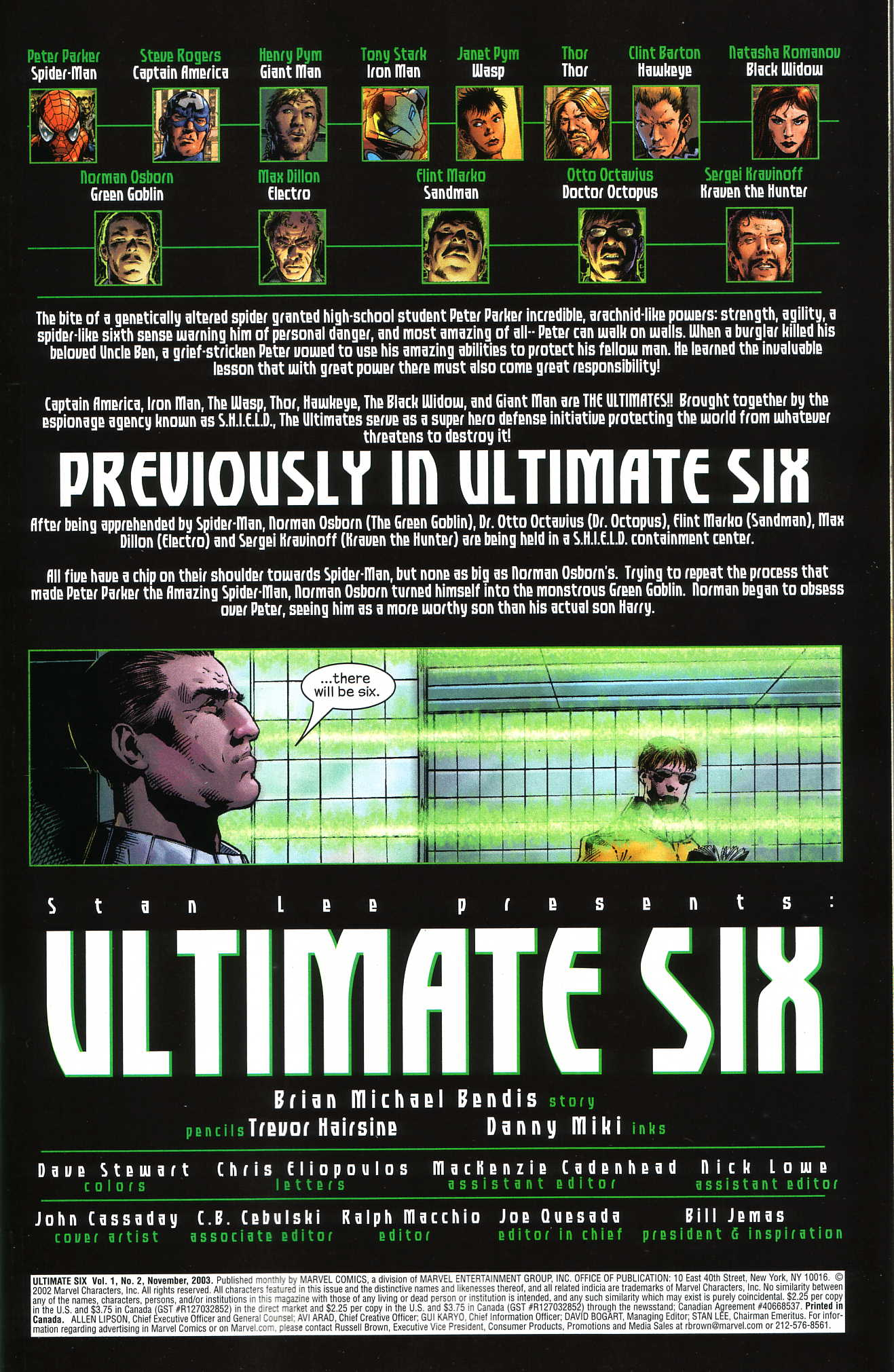 Read online Ultimate Six comic -  Issue #2 - 2