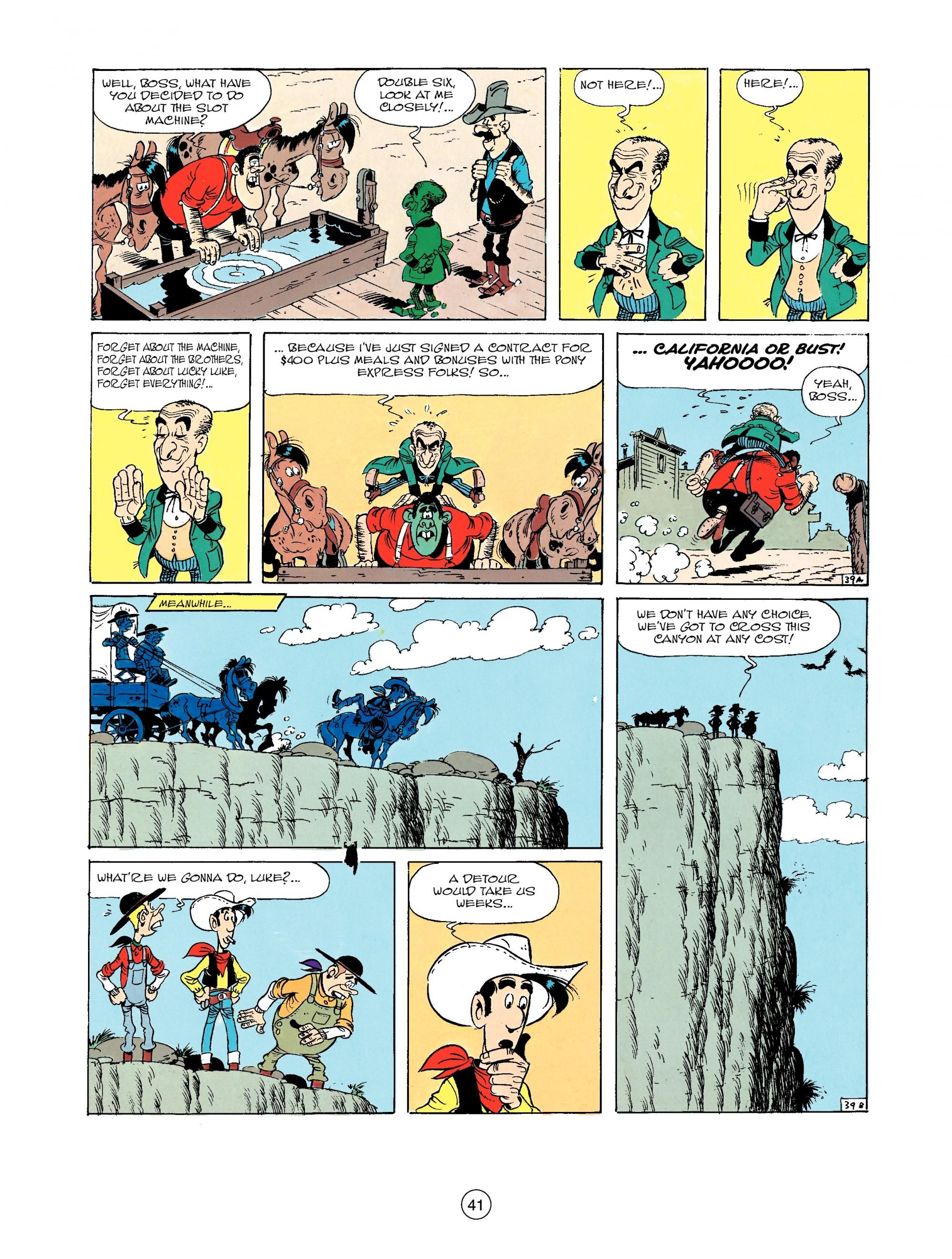 Read online A Lucky Luke Adventure comic -  Issue #33 - 41
