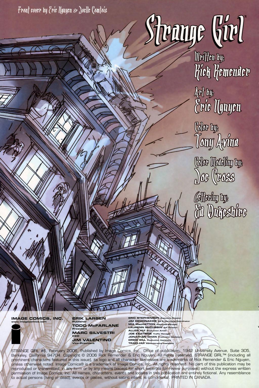 Read online Strange Girl comic -  Issue #6 - 2