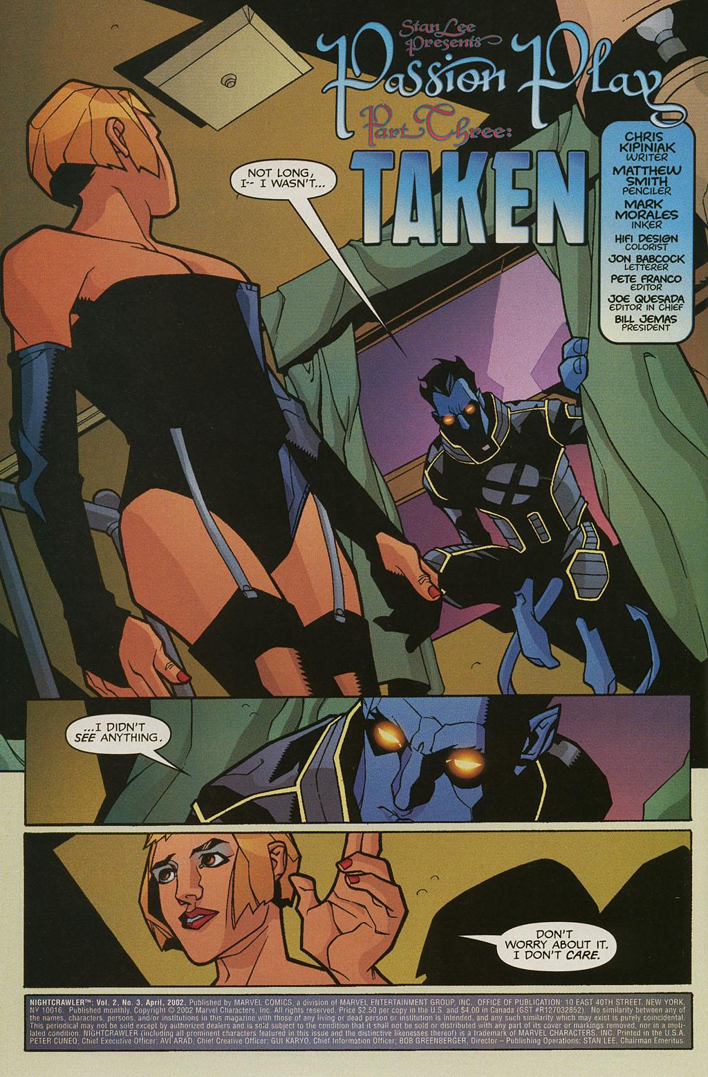 Read online Nightcrawler (2002) comic -  Issue #3 - 3