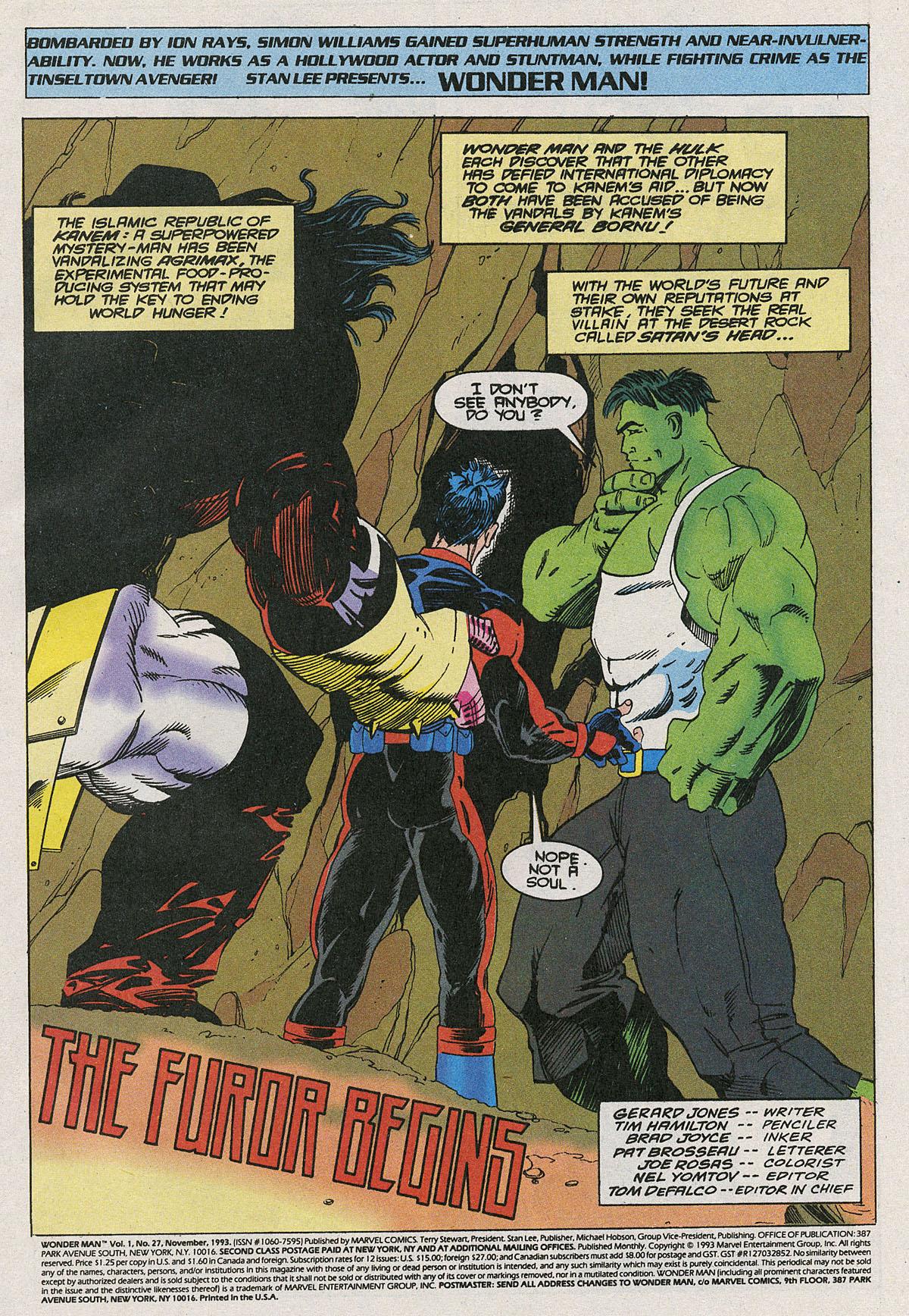 Read online Wonder Man (1991) comic -  Issue #27 - 2