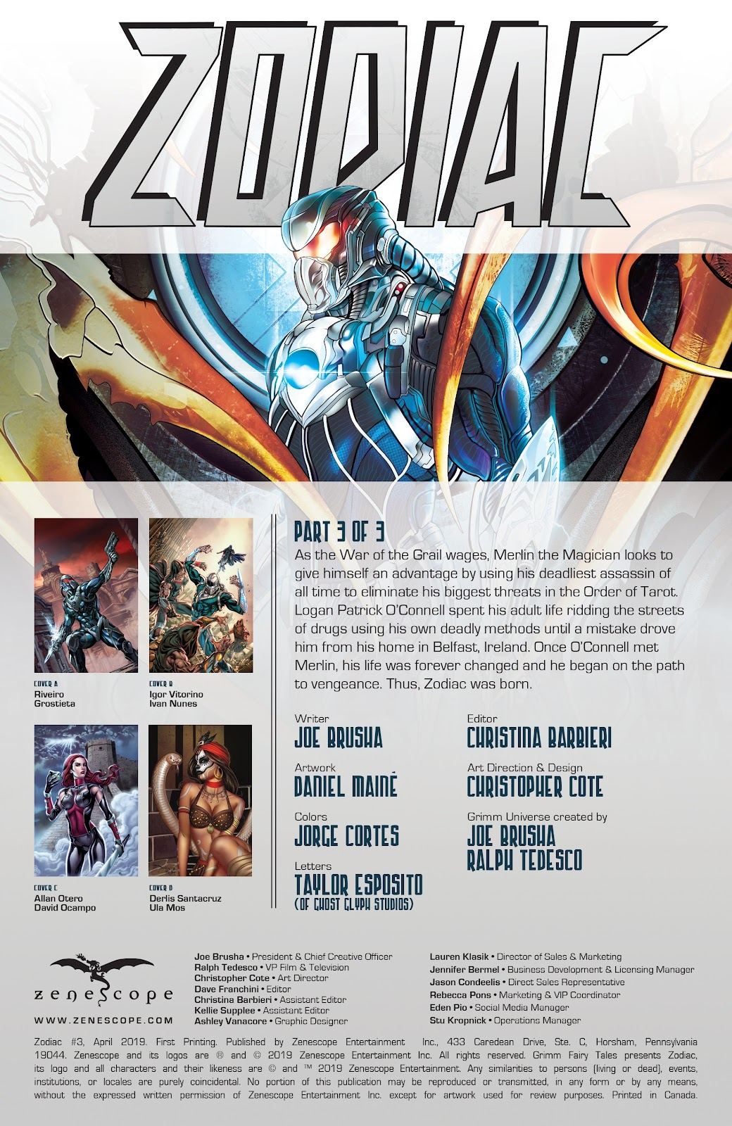 Read online Zodiac comic -  Issue #3 - 2