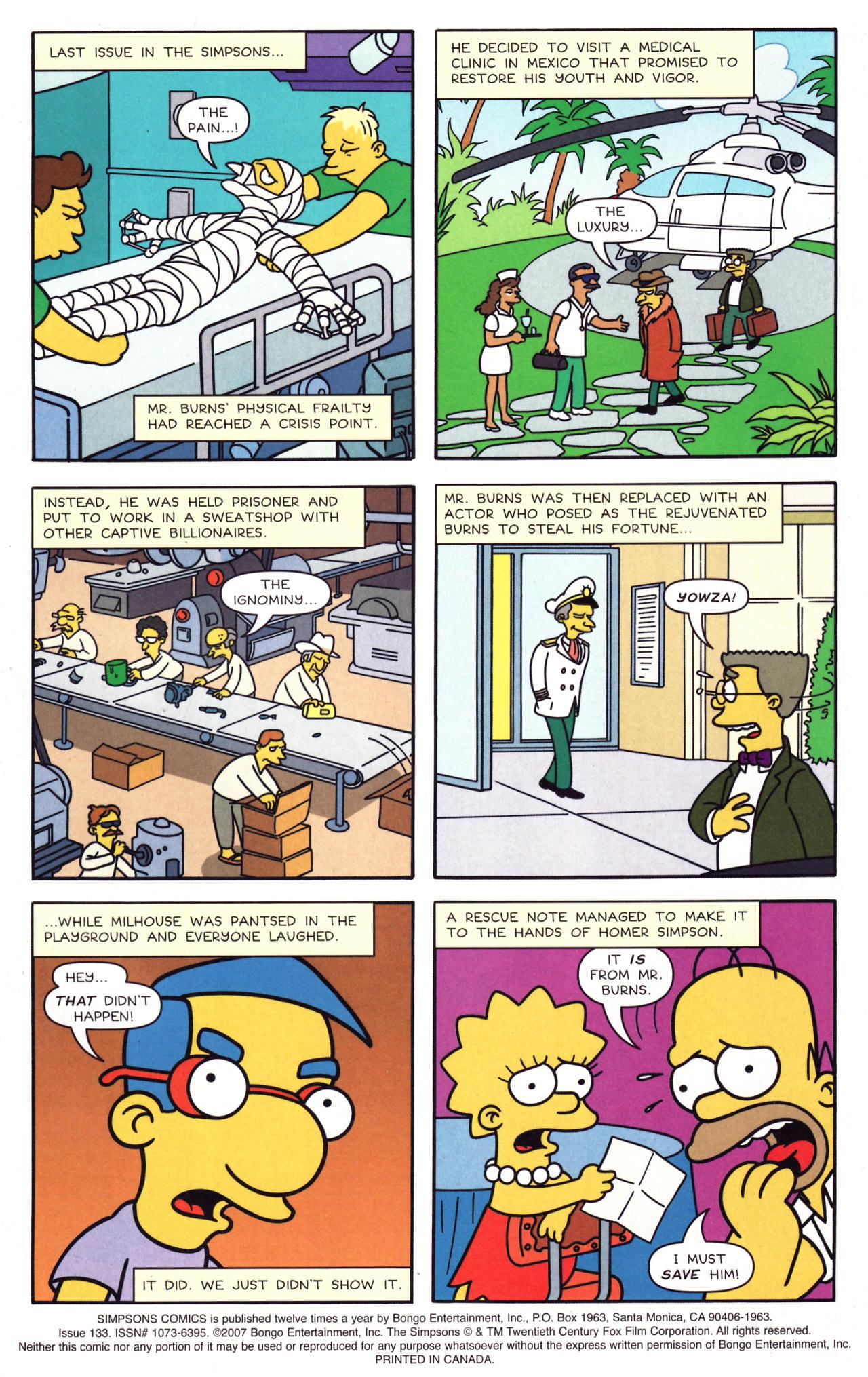 Read online Simpsons Comics comic -  Issue #133 - 2