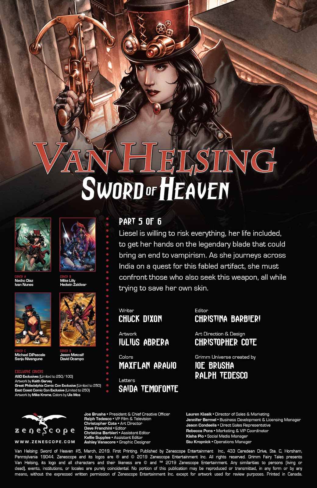 Read online Van Helsing: Sword of Heaven comic -  Issue #5 - 2
