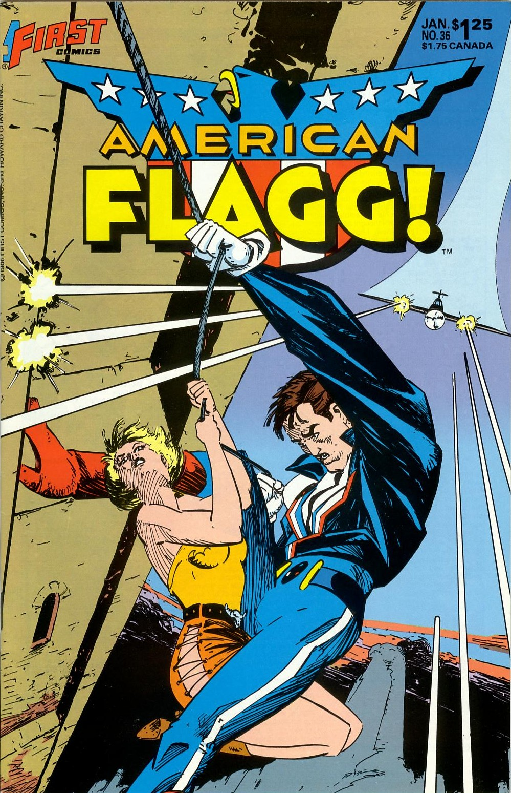 Read online American Flagg! comic -  Issue #36 - 1