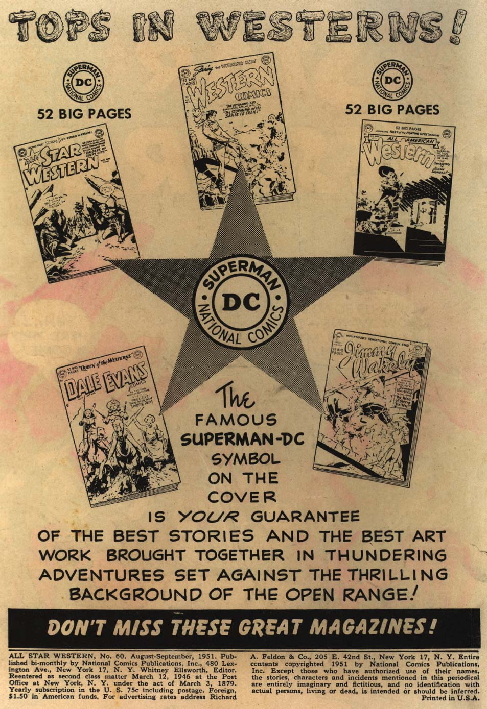 Read online All-Star Western (1951) comic -  Issue #60 - 2