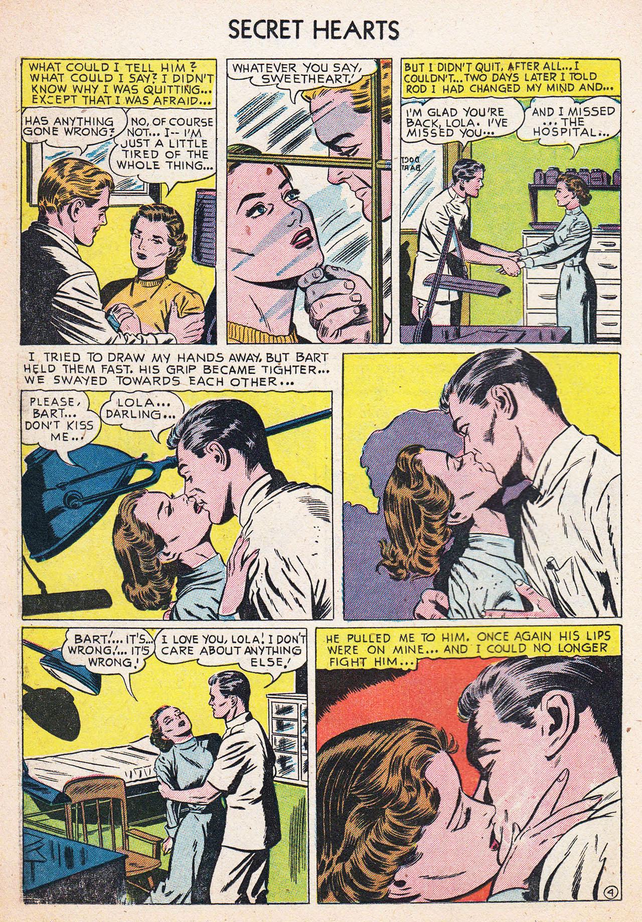 Read online Secret Hearts comic -  Issue #13 - 14