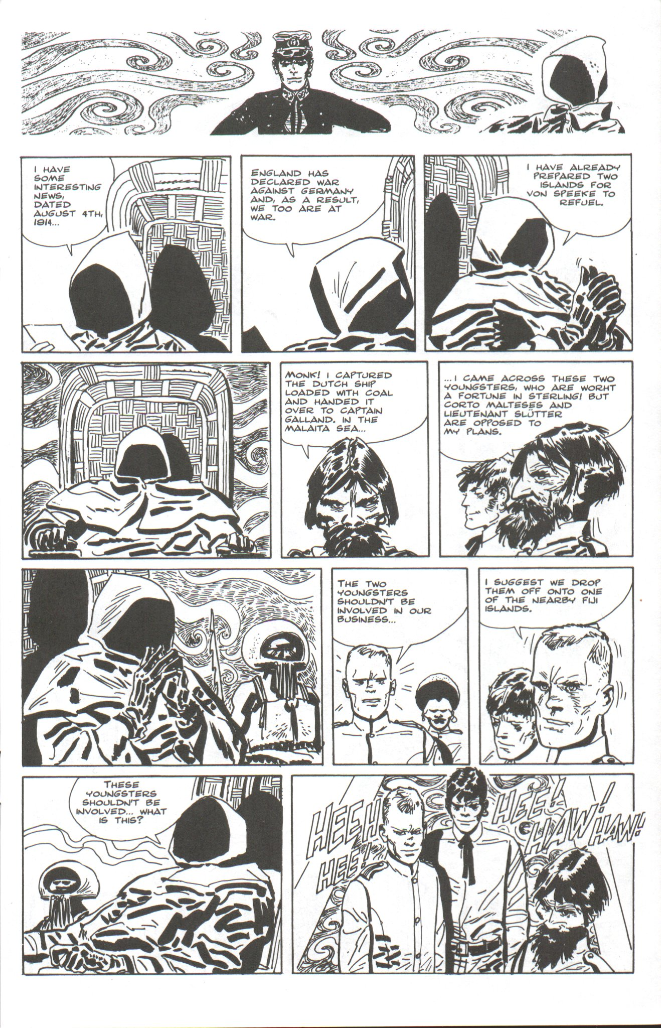 Read online Corto Maltese: Ballad of the Salt Sea comic -  Issue #4 - 5