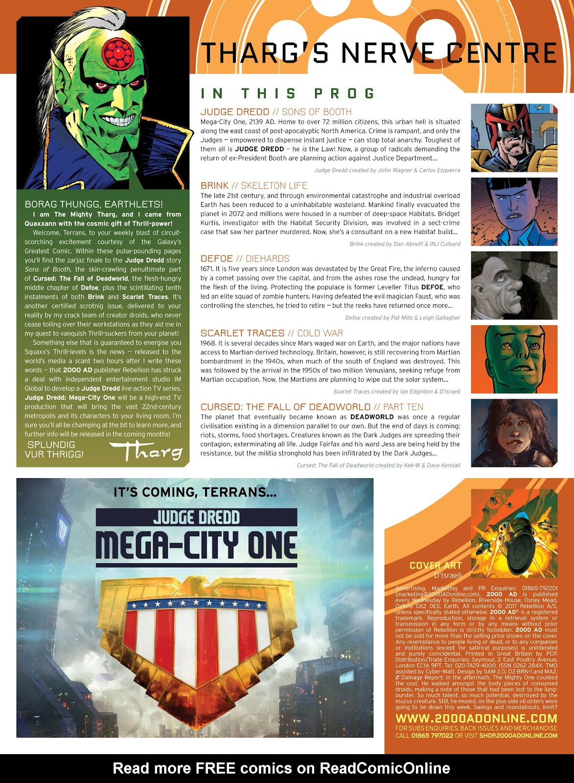 Read online 2000 AD comic -  Issue #2032 - 2