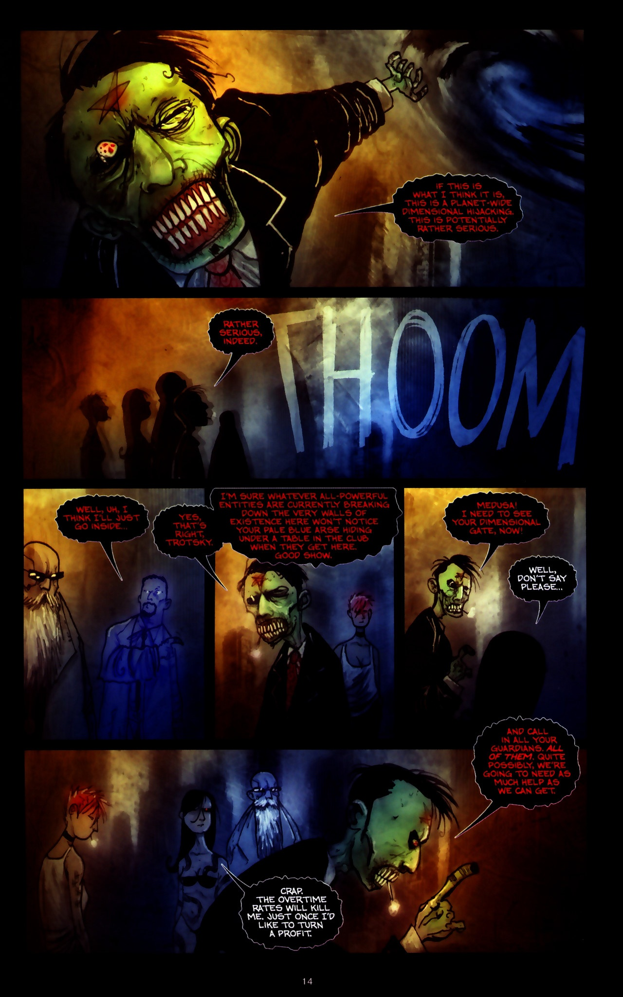 Read online Wormwood: Gentleman Corpse comic -  Issue #9 - 16