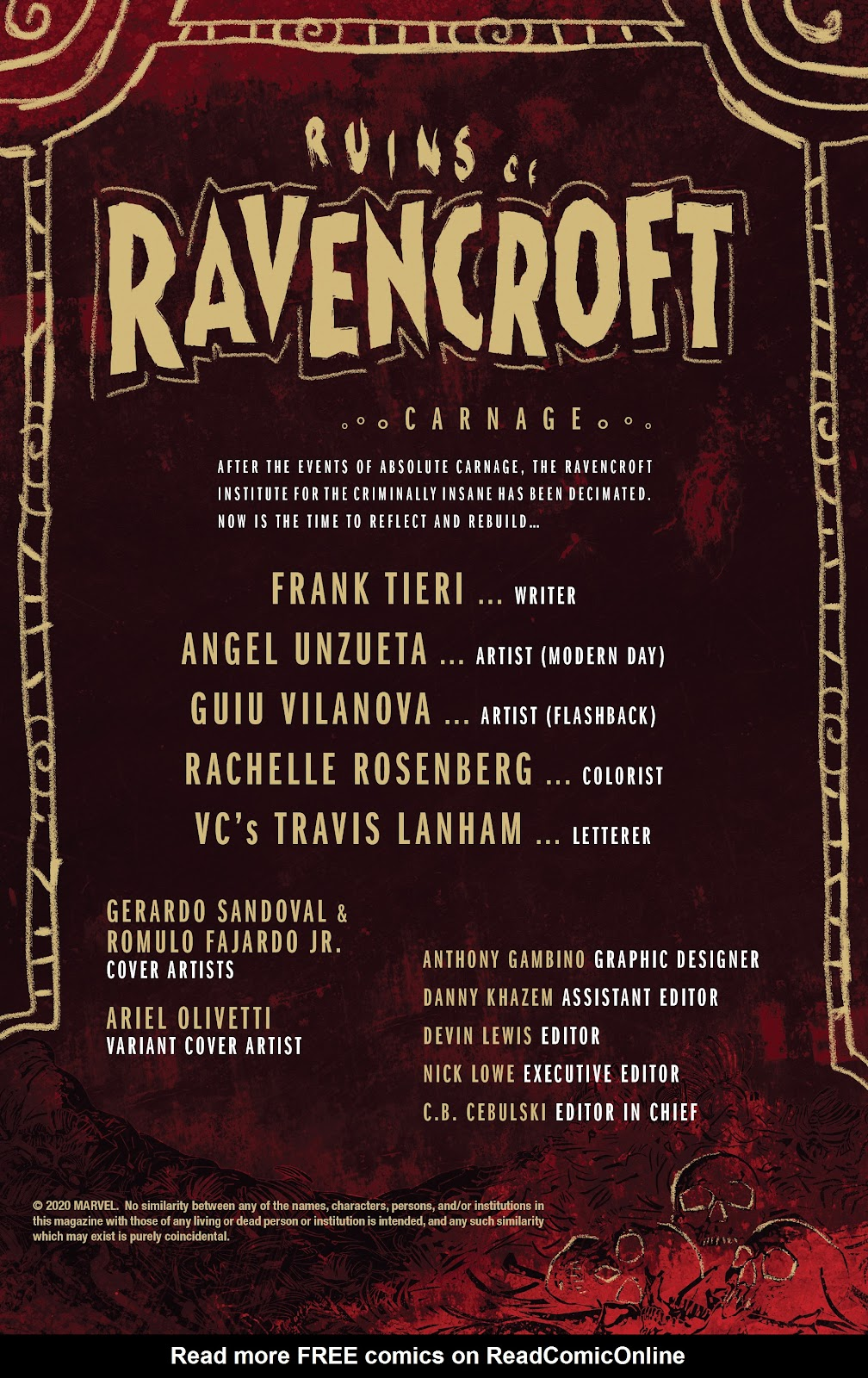 Read online Ruins Of Ravencroft comic -  Issue # Carnage - 2