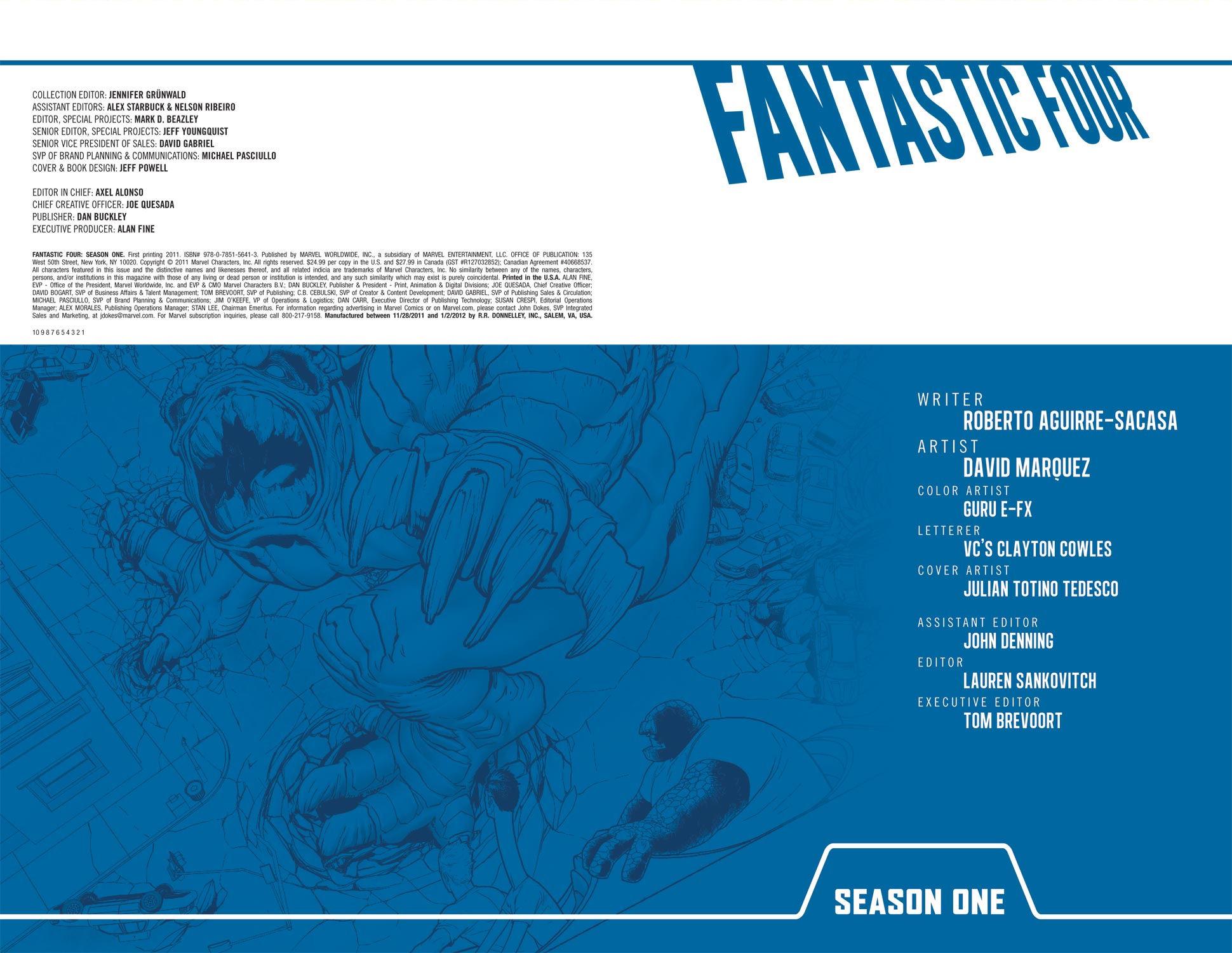 Read online Fantastic Four: Season One comic -  Issue # TPB - 3