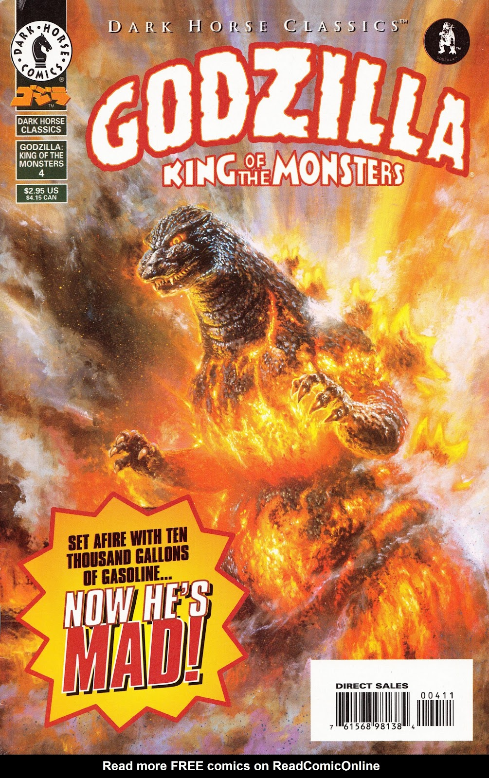 Dark Horse Classics: Godzilla - King of the Monsters issue 4 - Page 1