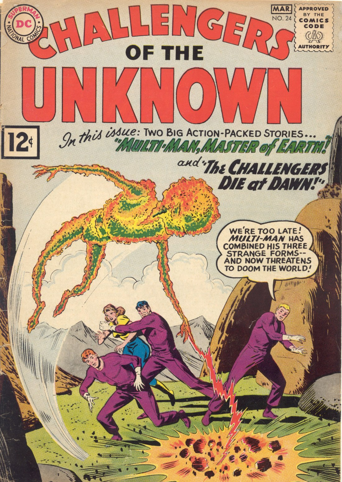Challengers of the Unknown (1958) 24 Page 1