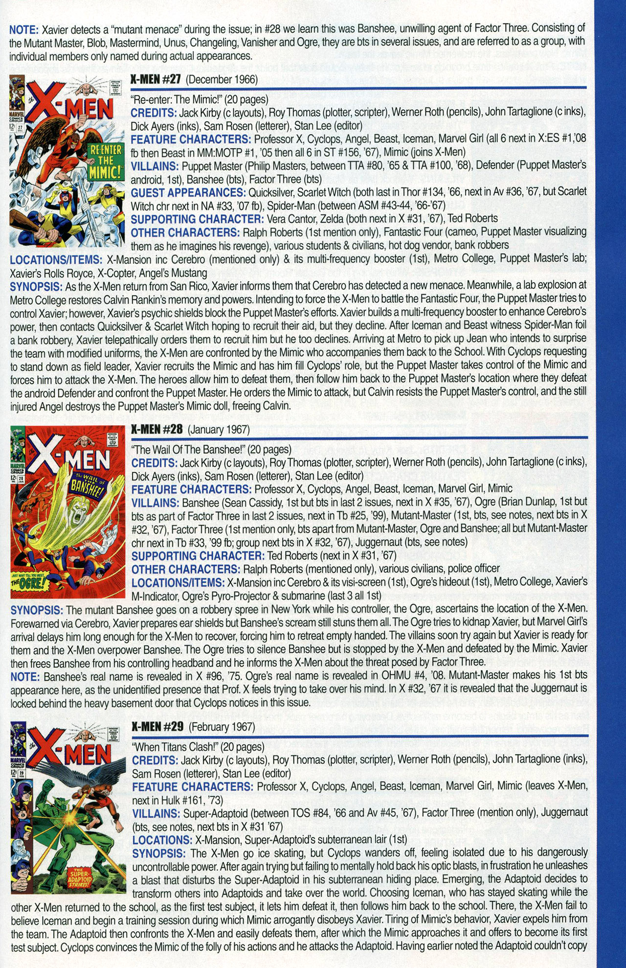 Read online Official Index to the Marvel Universe comic -  Issue #1 - 55