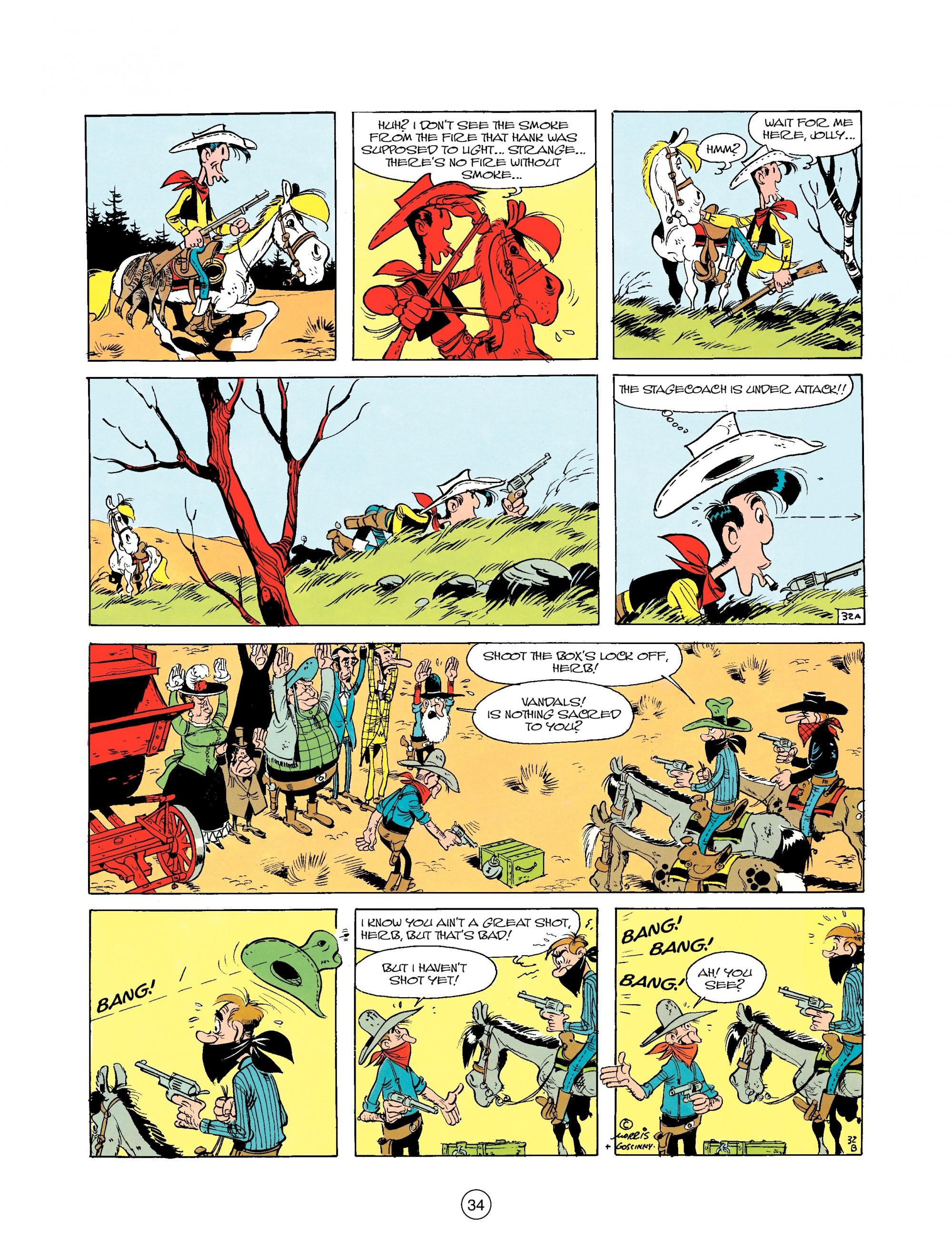 Read online A Lucky Luke Adventure comic -  Issue #25 - 34