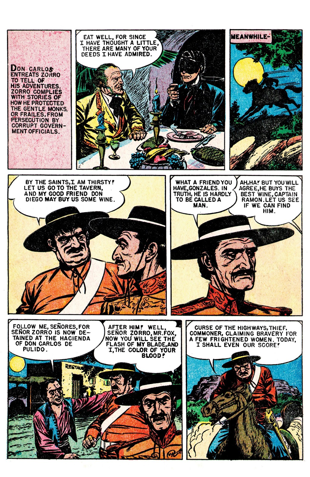 Read online AM Archives: The Mark of Zorro #1 1949 Dell Edition comic -  Issue #1 1949 Dell Edition Full - 7