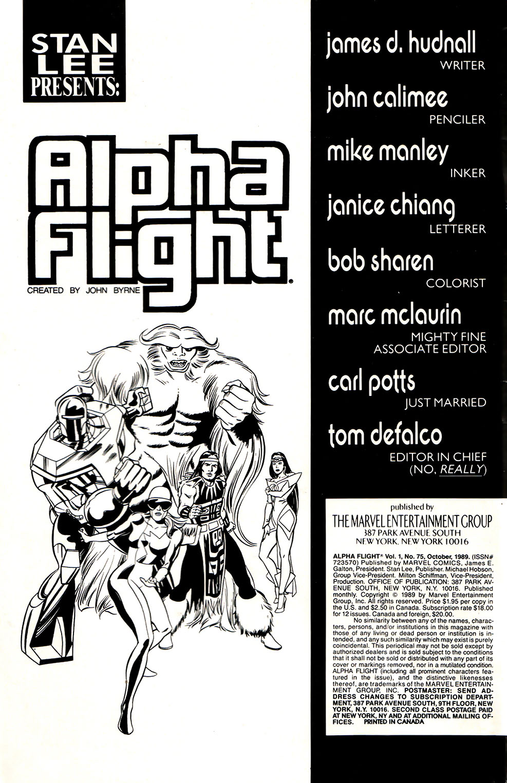 Read online Alpha Flight (1983) comic -  Issue #75 - 2