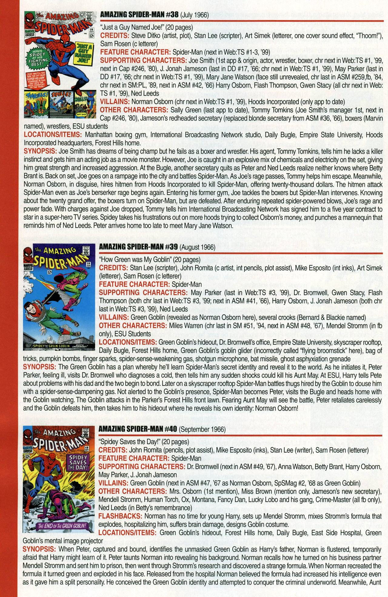 Read online Official Index to the Marvel Universe comic -  Issue #1 - 18