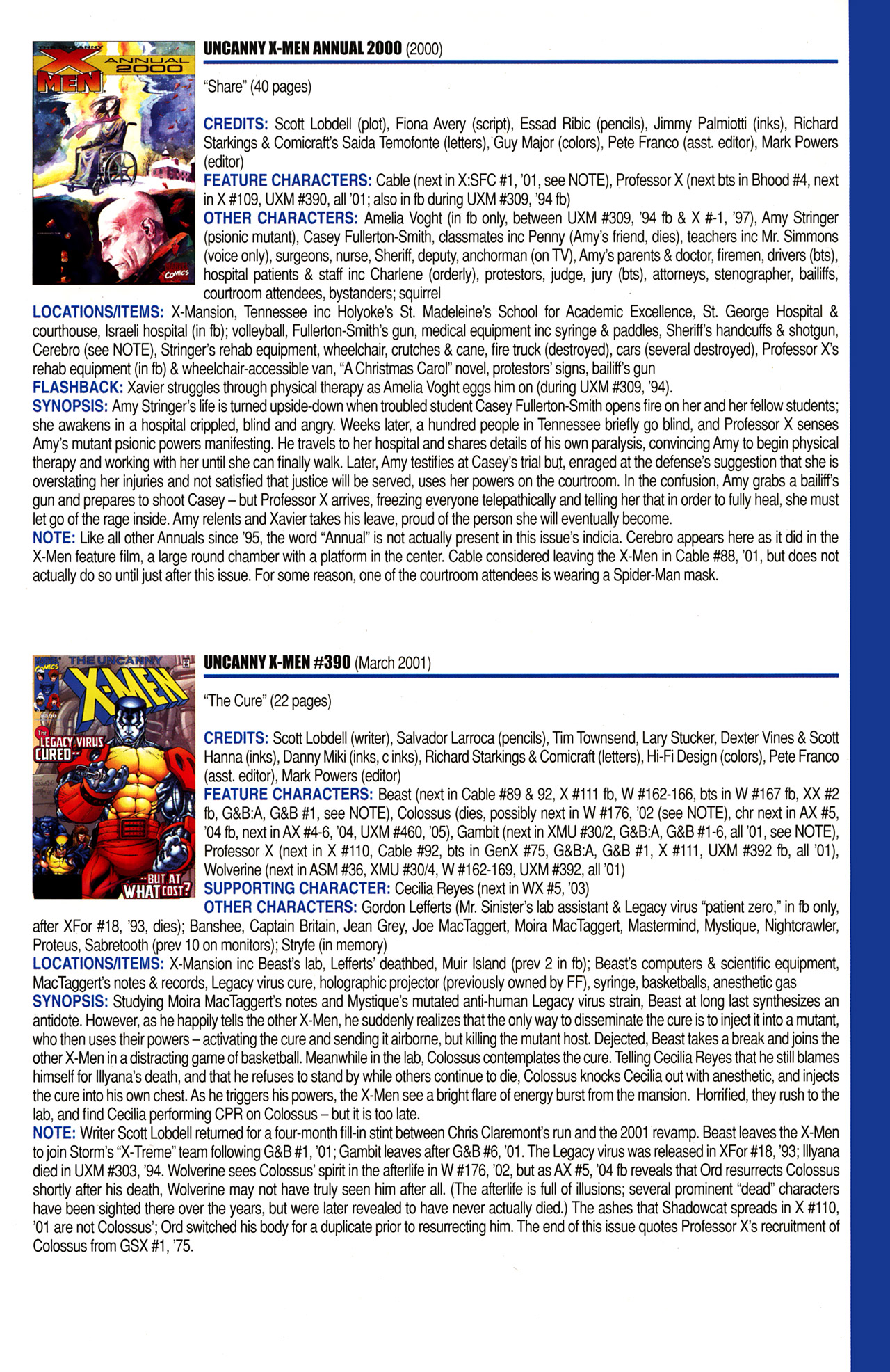 Read online Official Index to the Marvel Universe comic -  Issue #10 - 55