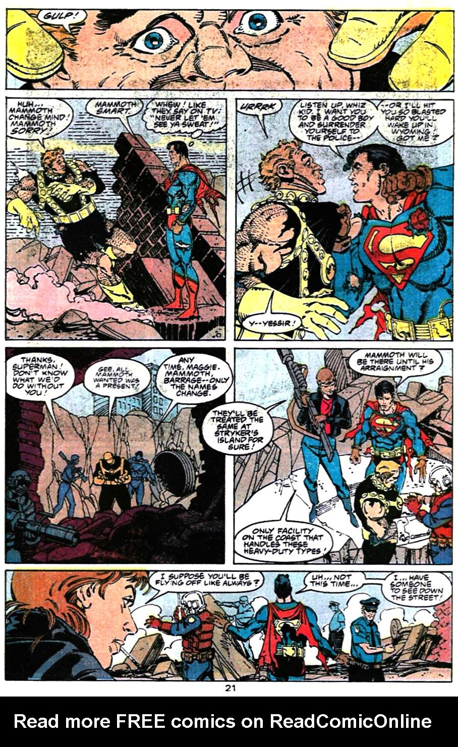 Read online Adventures of Superman (1987) comic -  Issue #472 - 22