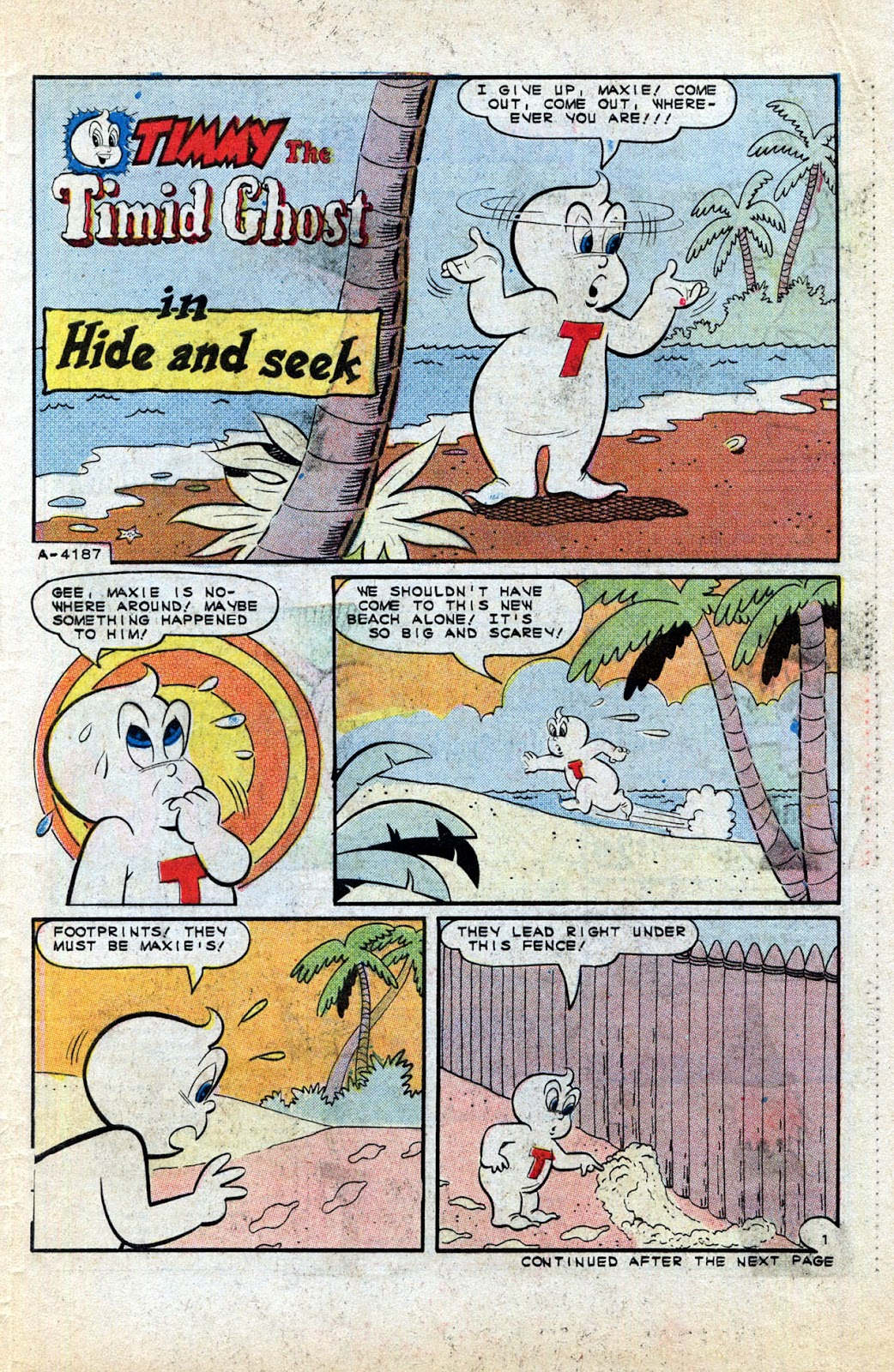 Read online Timmy the Timid Ghost comic -  Issue #1 - 29