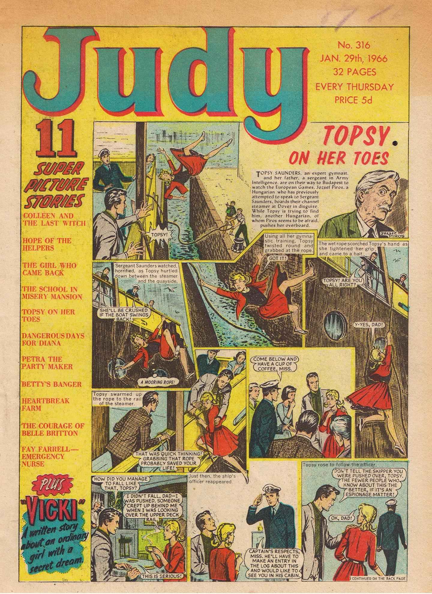 Read online Judy comic -  Issue #316 - 1