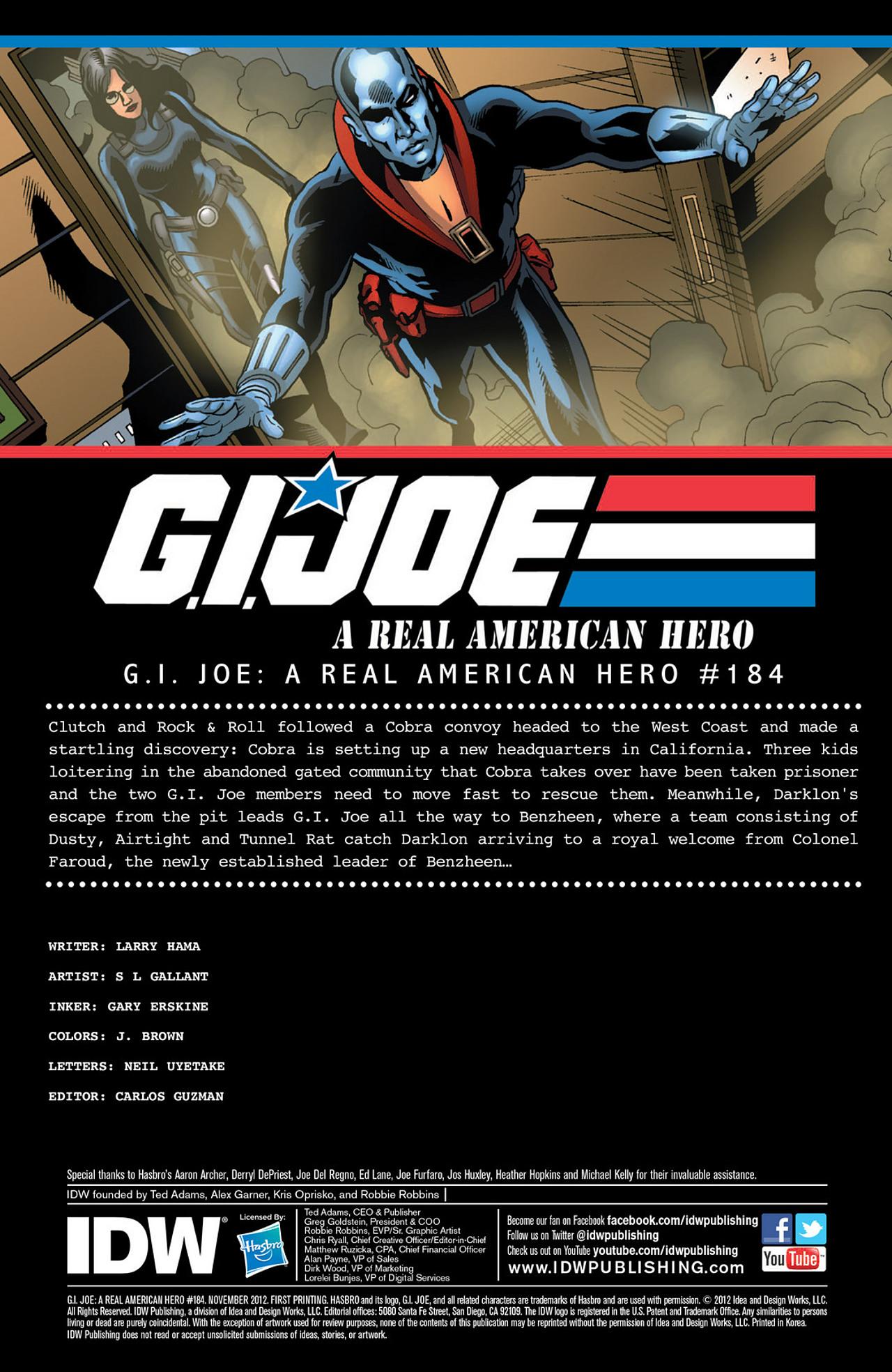 G.I. Joe: A Real American Hero 184 Page 1