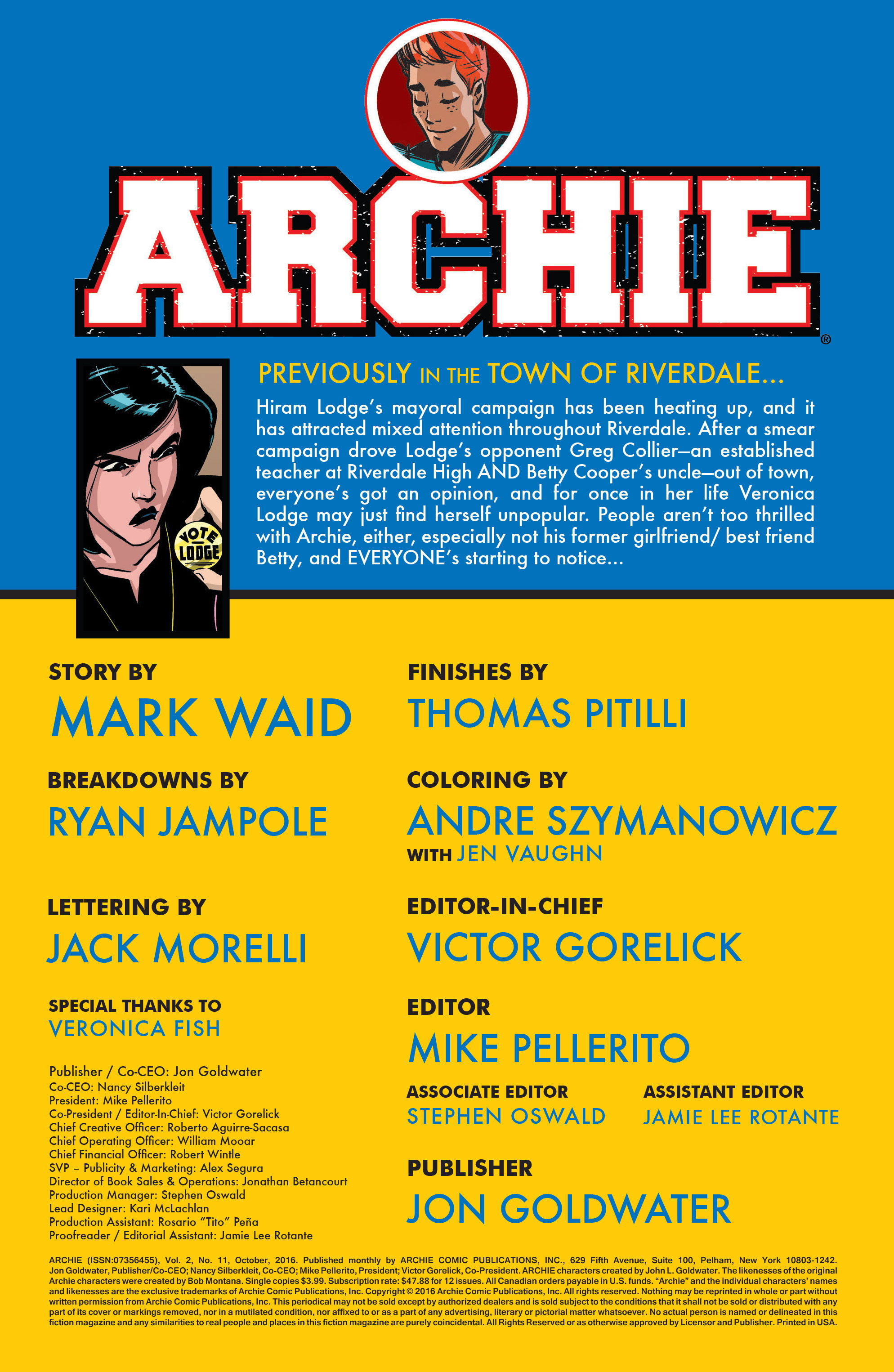 Read online Archie (2015) comic -  Issue #11 - 2