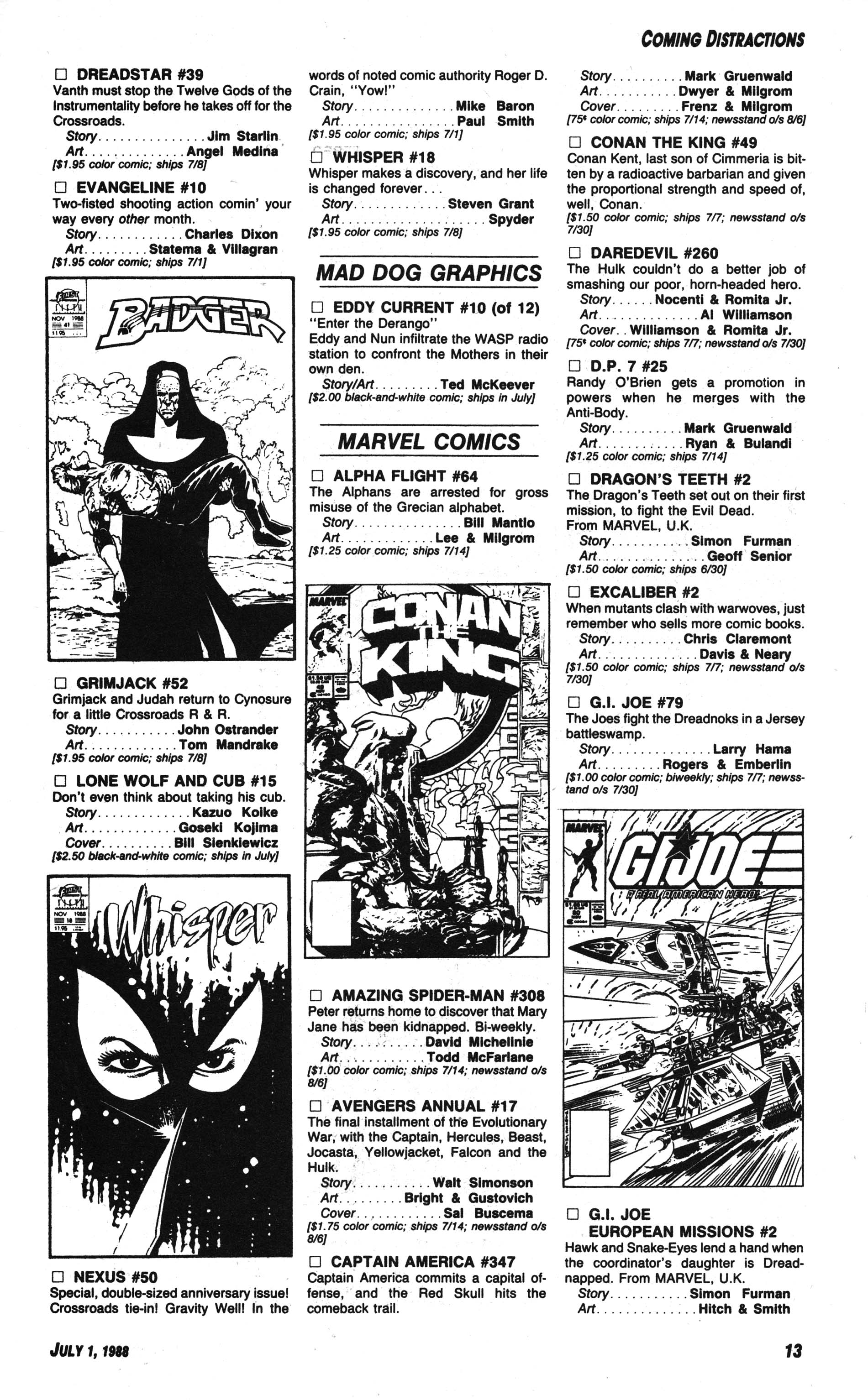 Read online Amazing Heroes comic -  Issue #144 - 13
