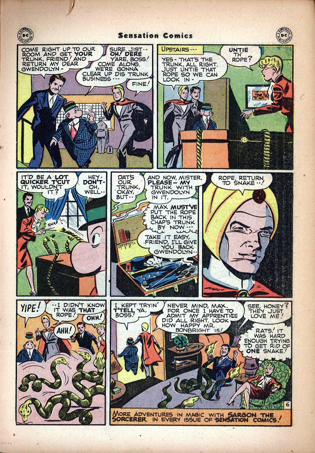 Read online Sensation (Mystery) Comics comic -  Issue #62 - 29