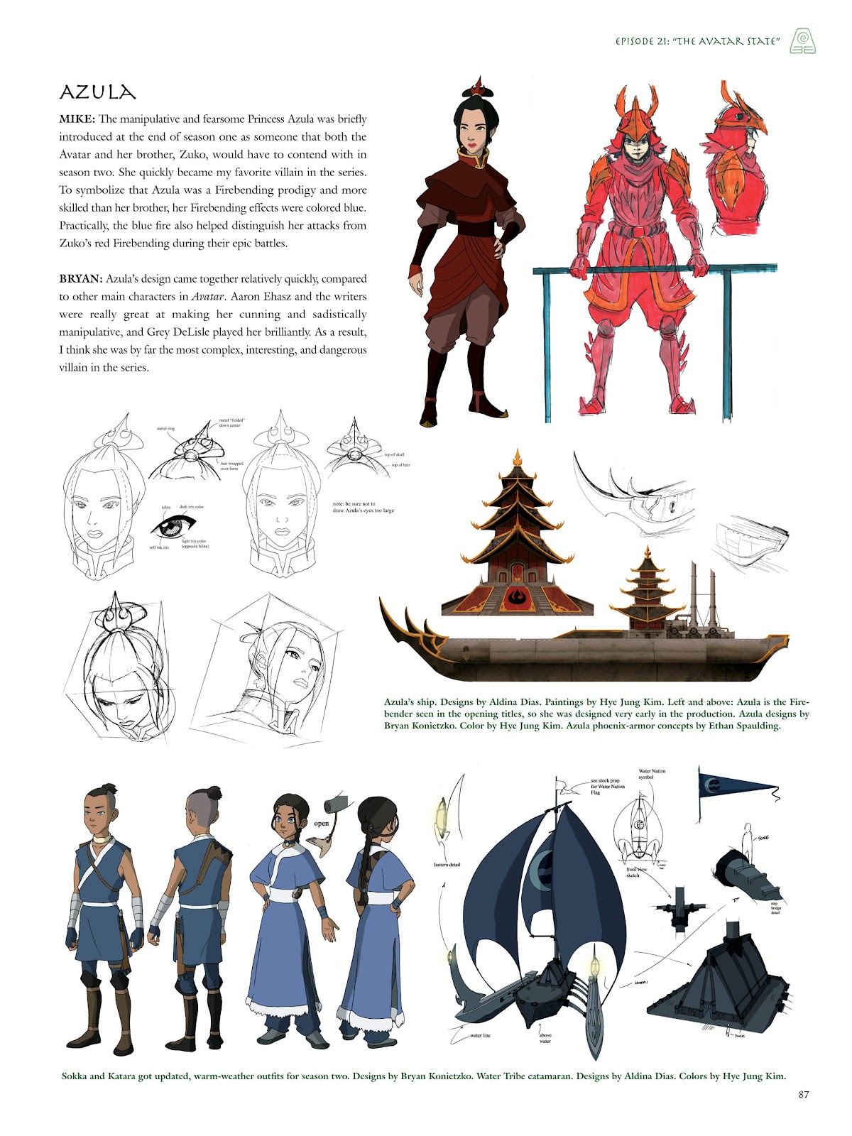 Read online Avatar: The Last Airbender - The Art of the Animated Series comic -  Issue # TPB (Part 1) - 86
