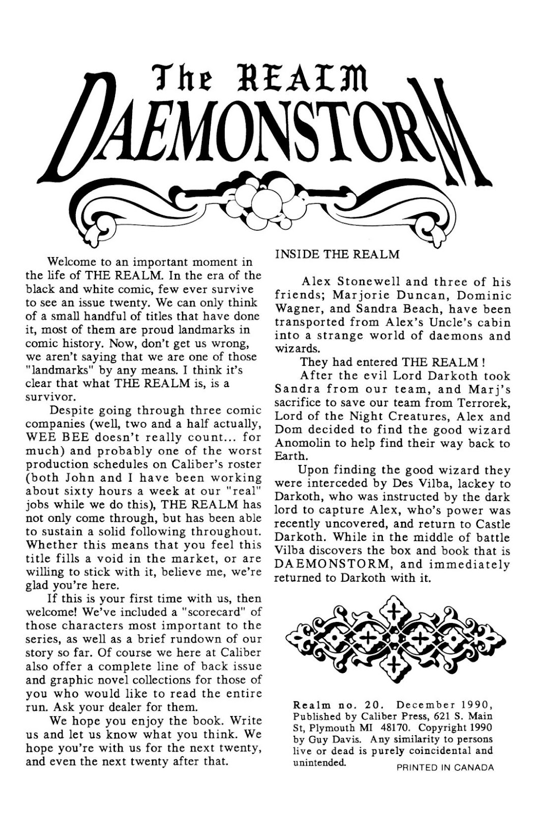 The Realm (1986) issue 20 - Page 2