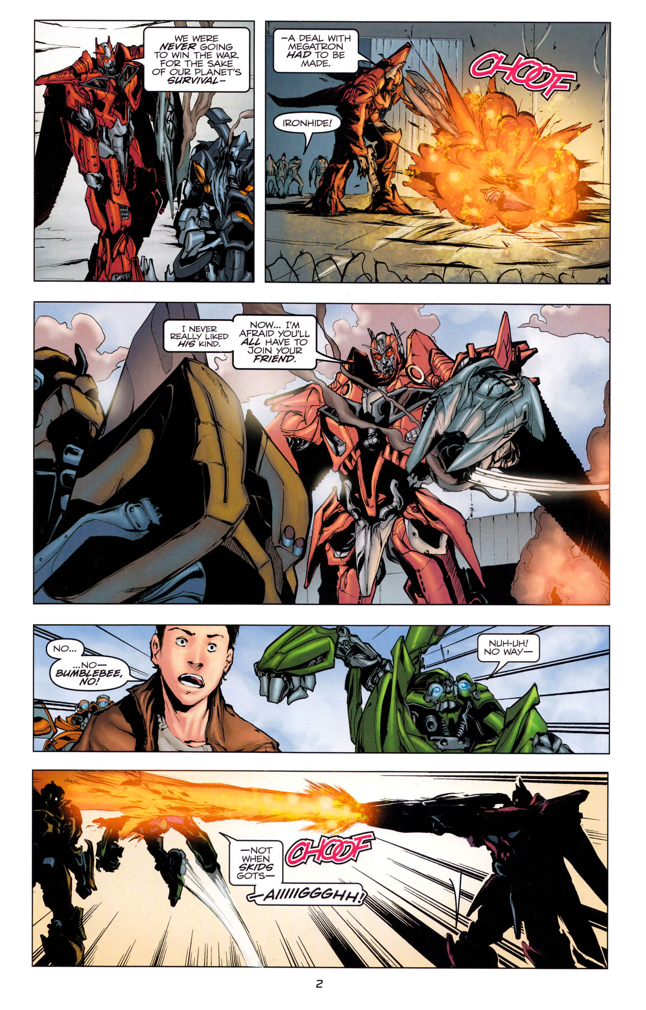 Read online Transformers: Dark of the Moon Movie Adaptation comic -  Issue #3 - 4