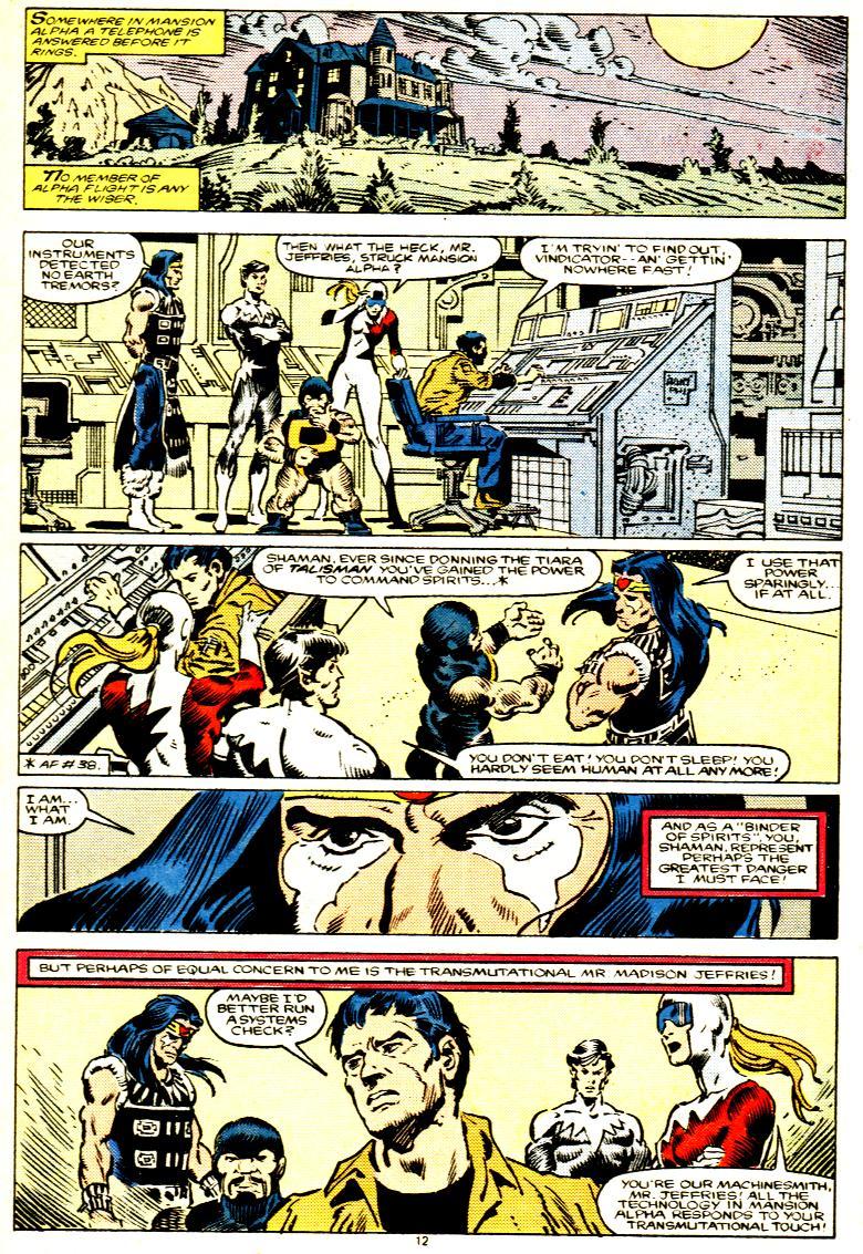 Read online Alpha Flight (1983) comic -  Issue # _Annual 1 - 13
