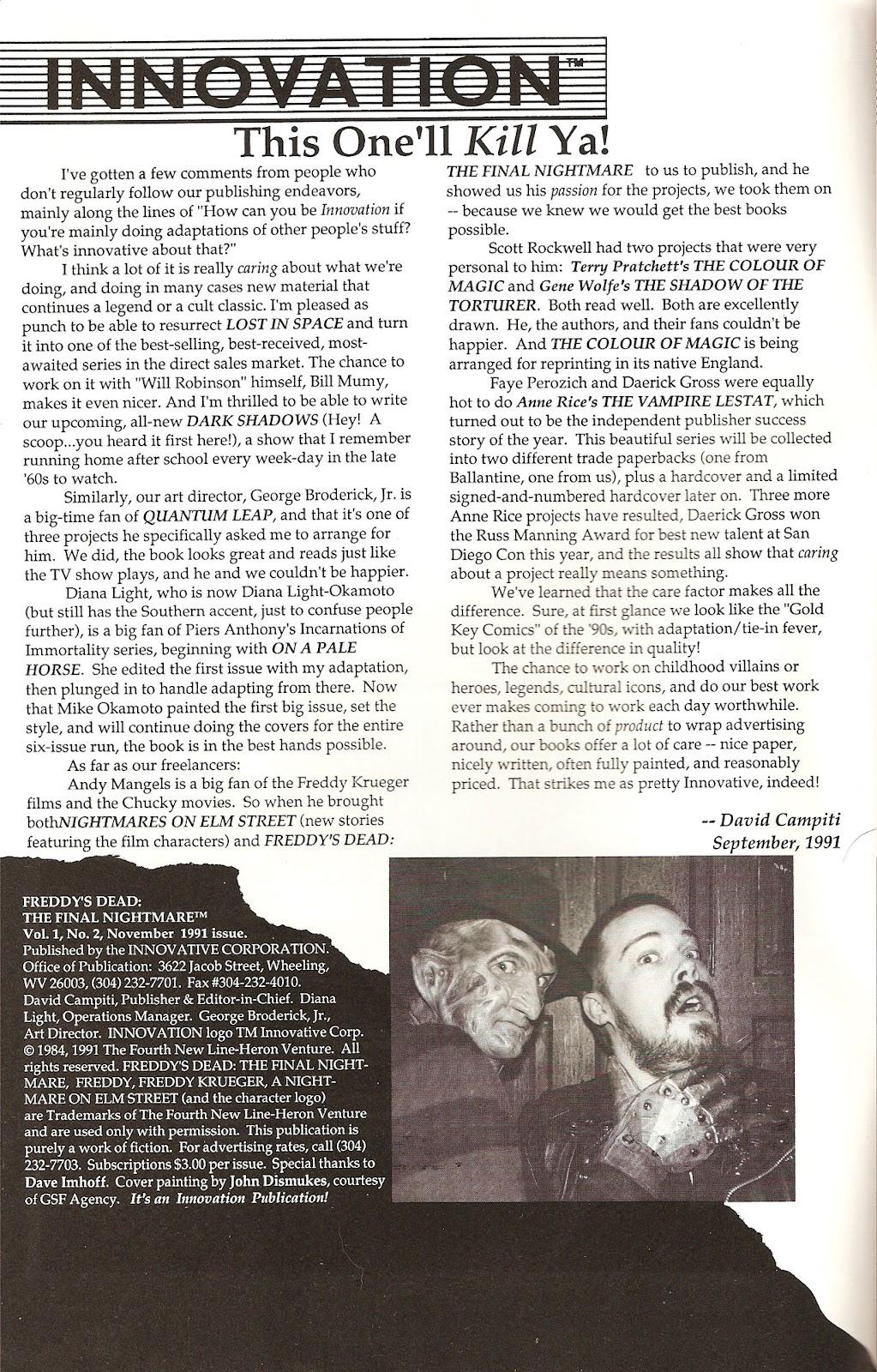 Read online Freddy's Dead: The Final Nightmare comic -  Issue #2 - 2