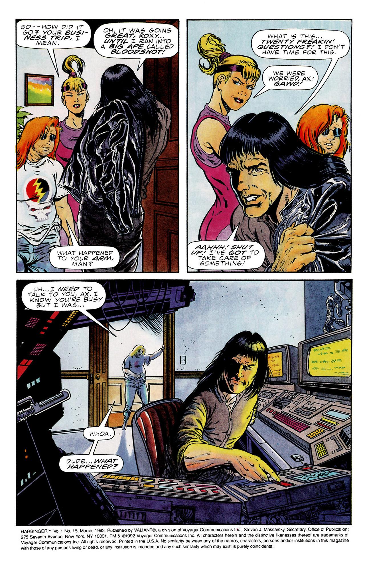 Read online Harbinger (1992) comic -  Issue #15 - 3